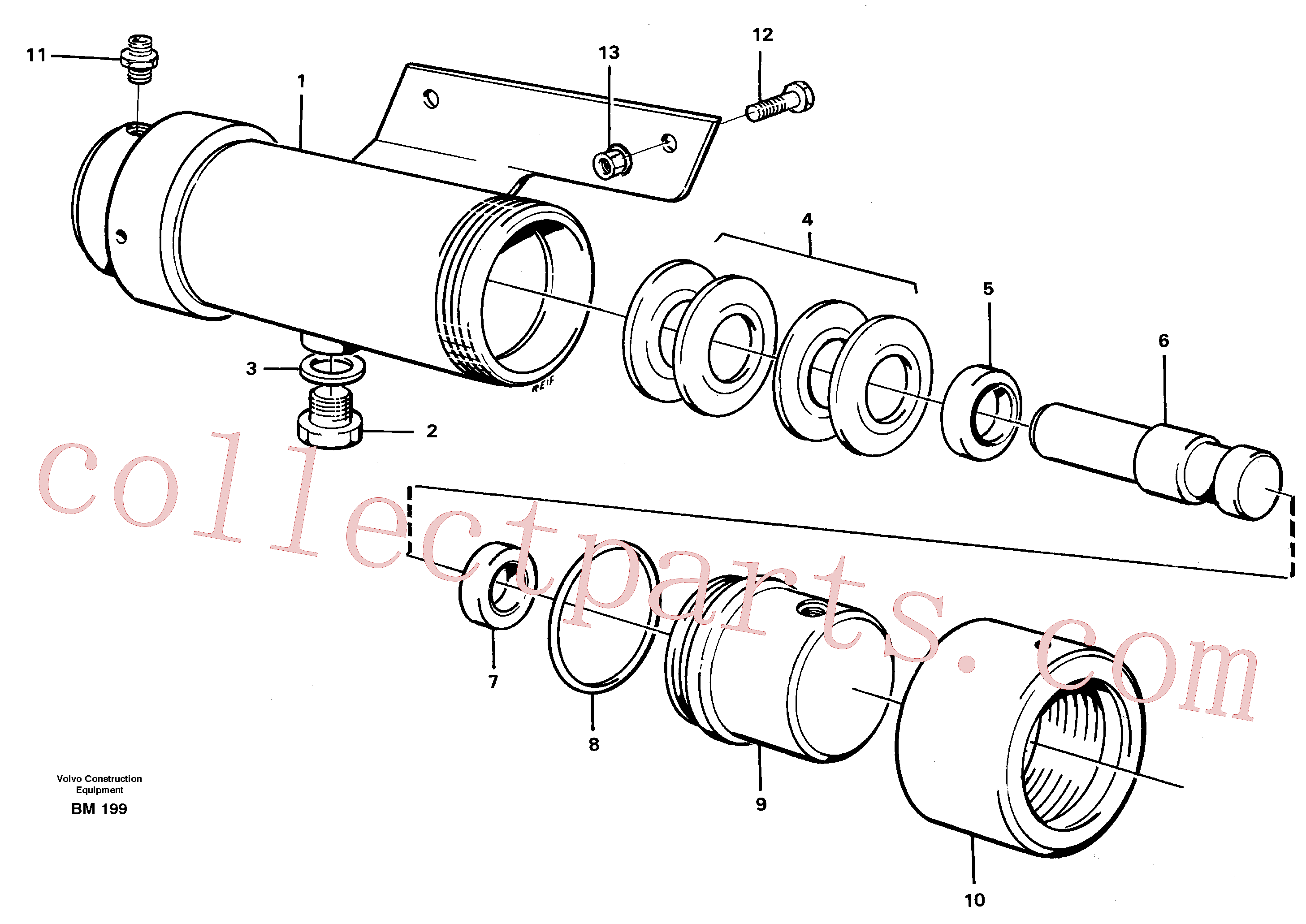VOE925255 for Volvo Damping cylinder with fitting parts(BM199 assembly)