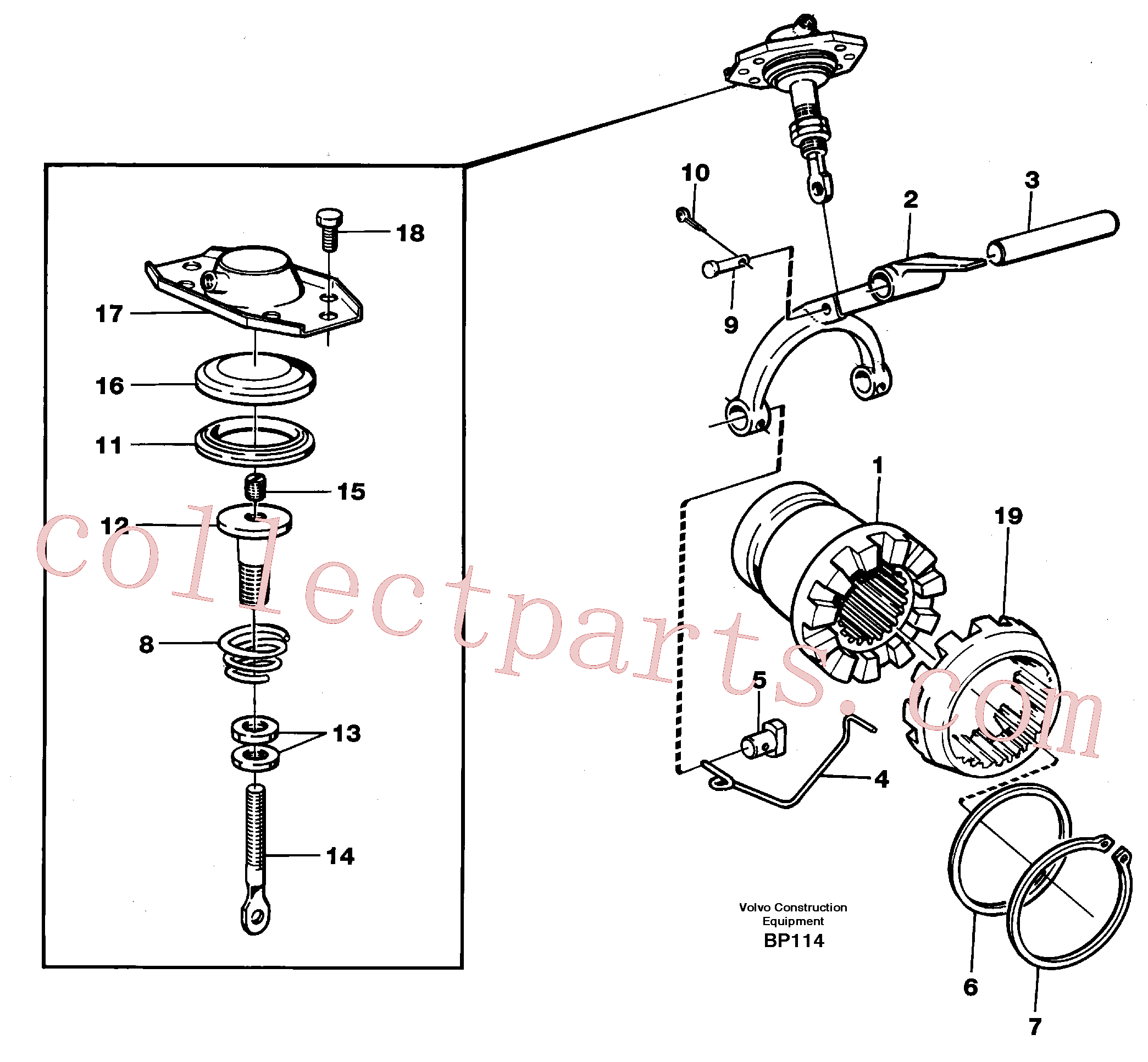 VOE383971 for Volvo Differential lock(BP114 assembly)