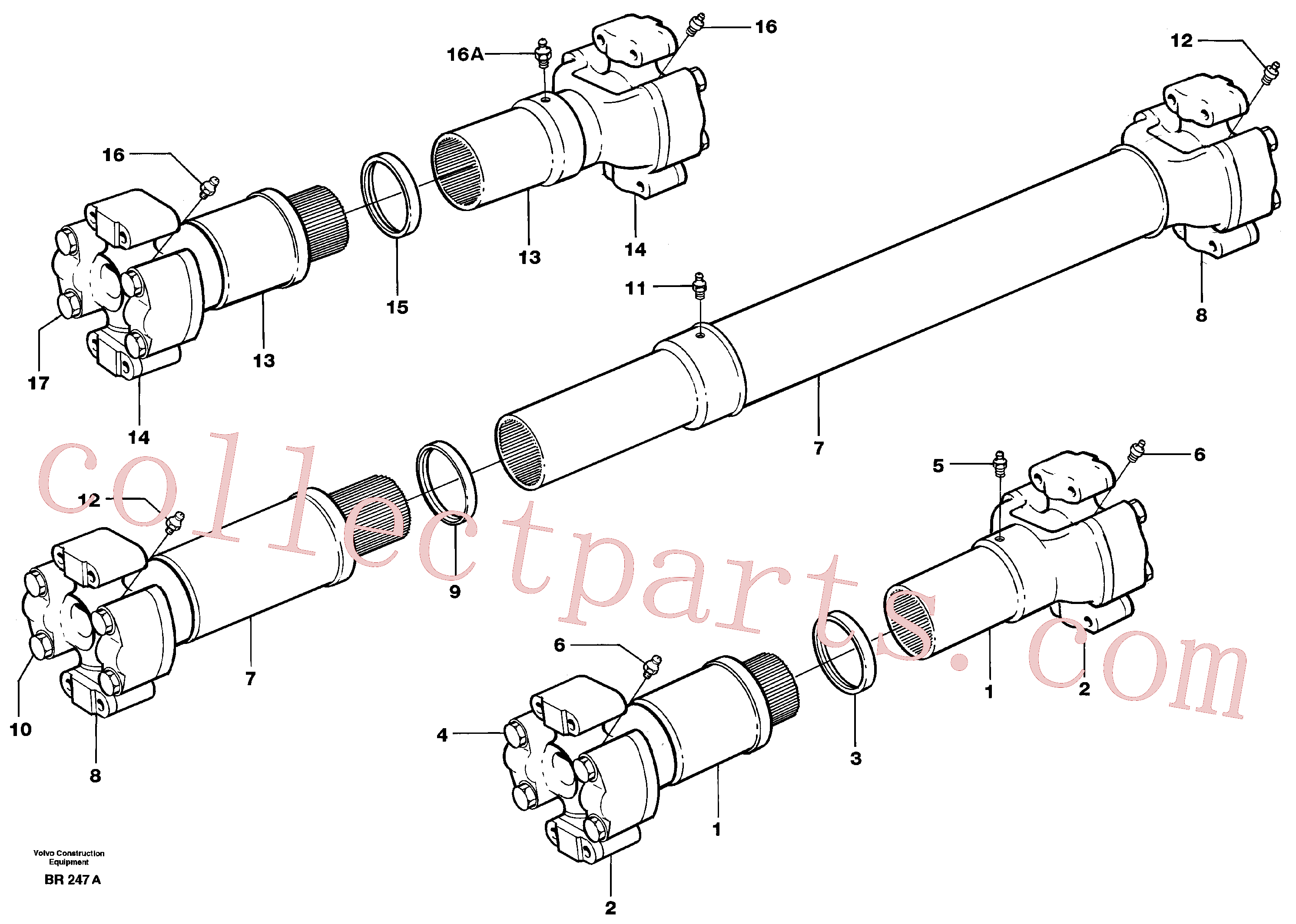 VOE11701338 for Volvo Propeller shaft(BR247A assembly)