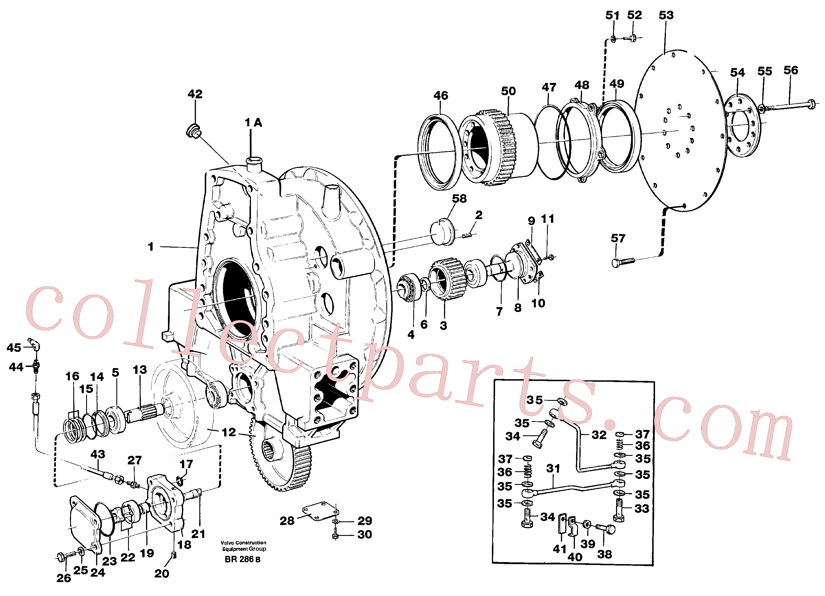 VOE925255 for Volvo Pump drive(BR286B assembly)