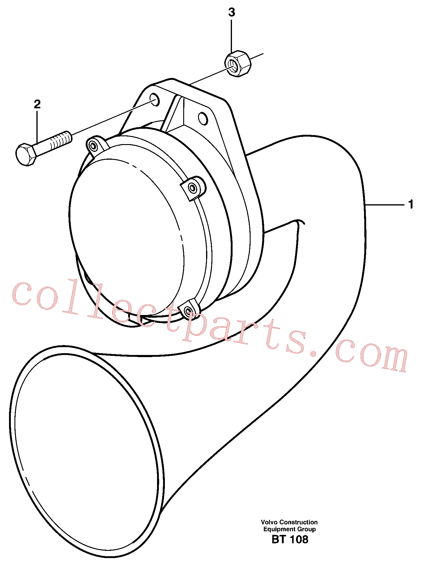 VOE947760 for Volvo Compressor horn, Air horn(BT108 assembly)