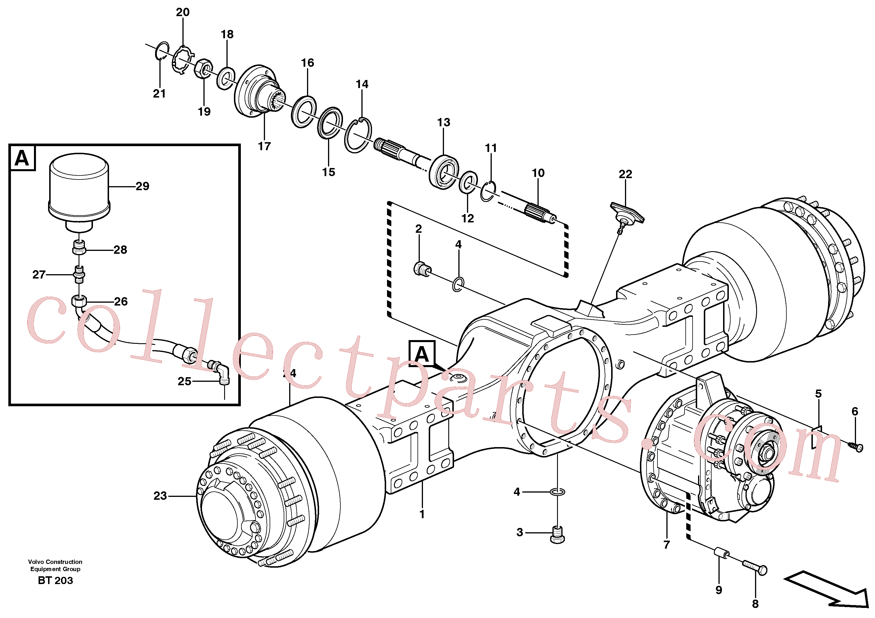 VOE13933676 for Volvo Planetary axle 1, load unit(BT203 assembly)