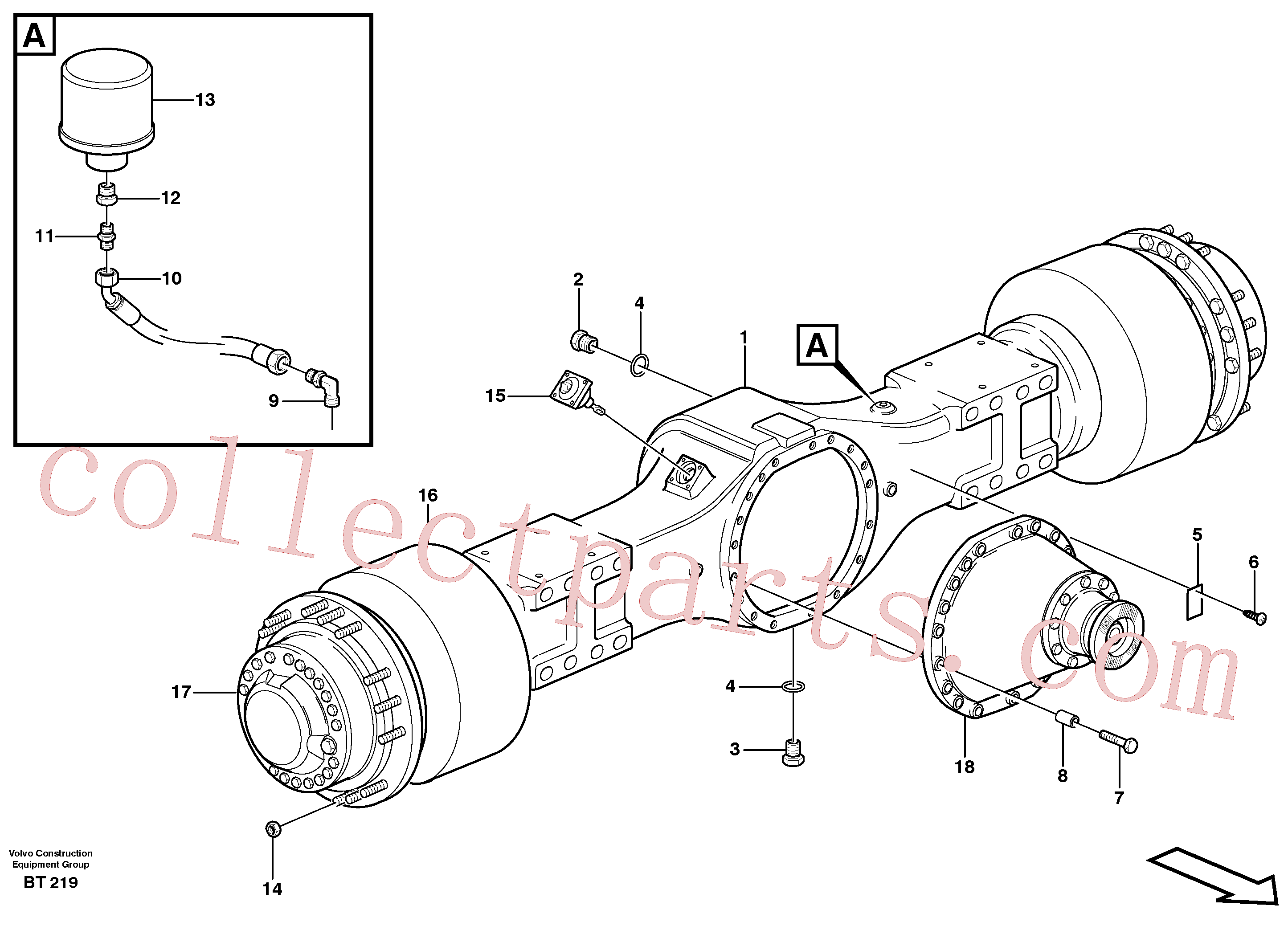 VOE13933676 for Volvo Planetary axle 2, load unit(BT219 assembly)