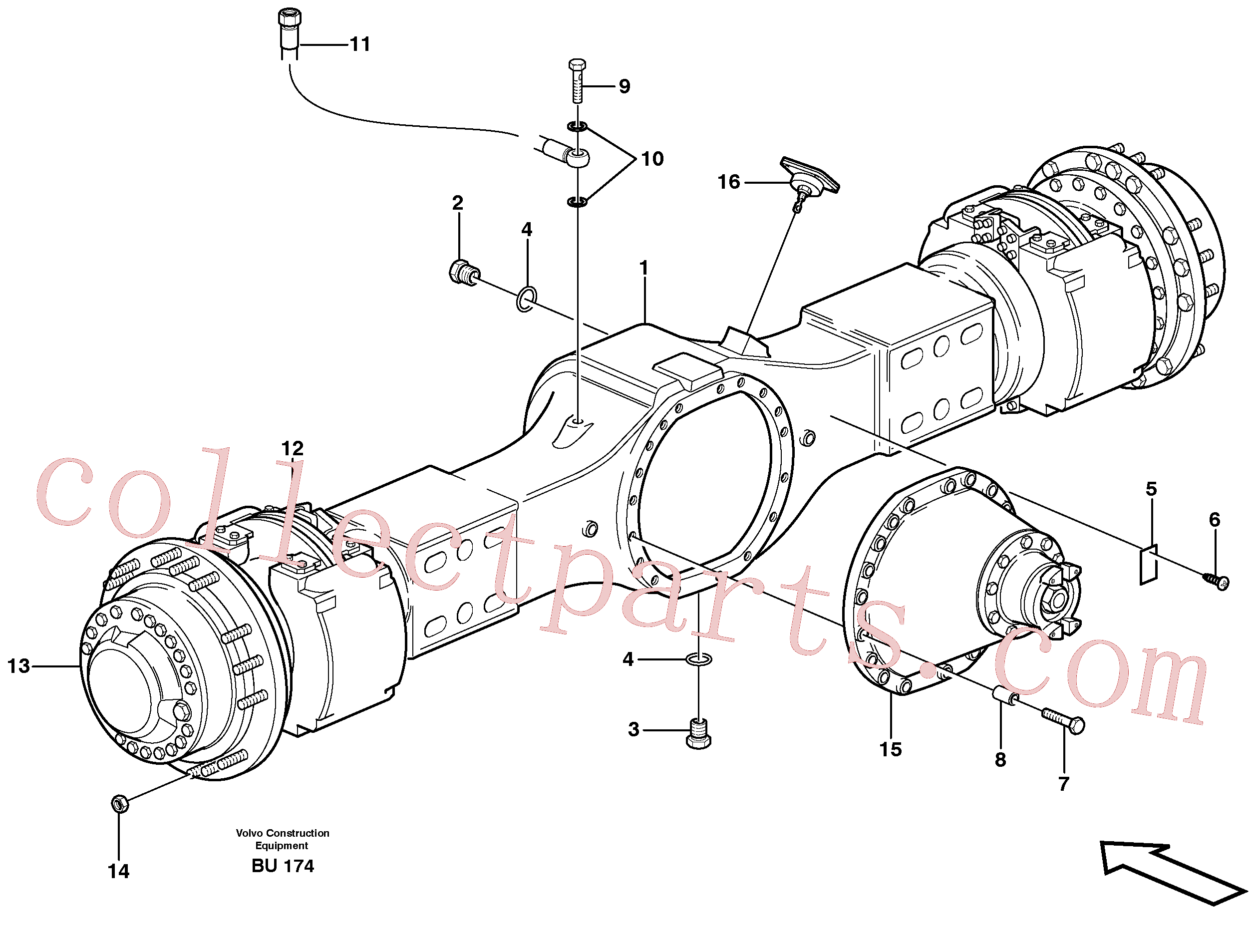 VOE11034156 for Volvo Planetary axle, motor unit(BU174 assembly)