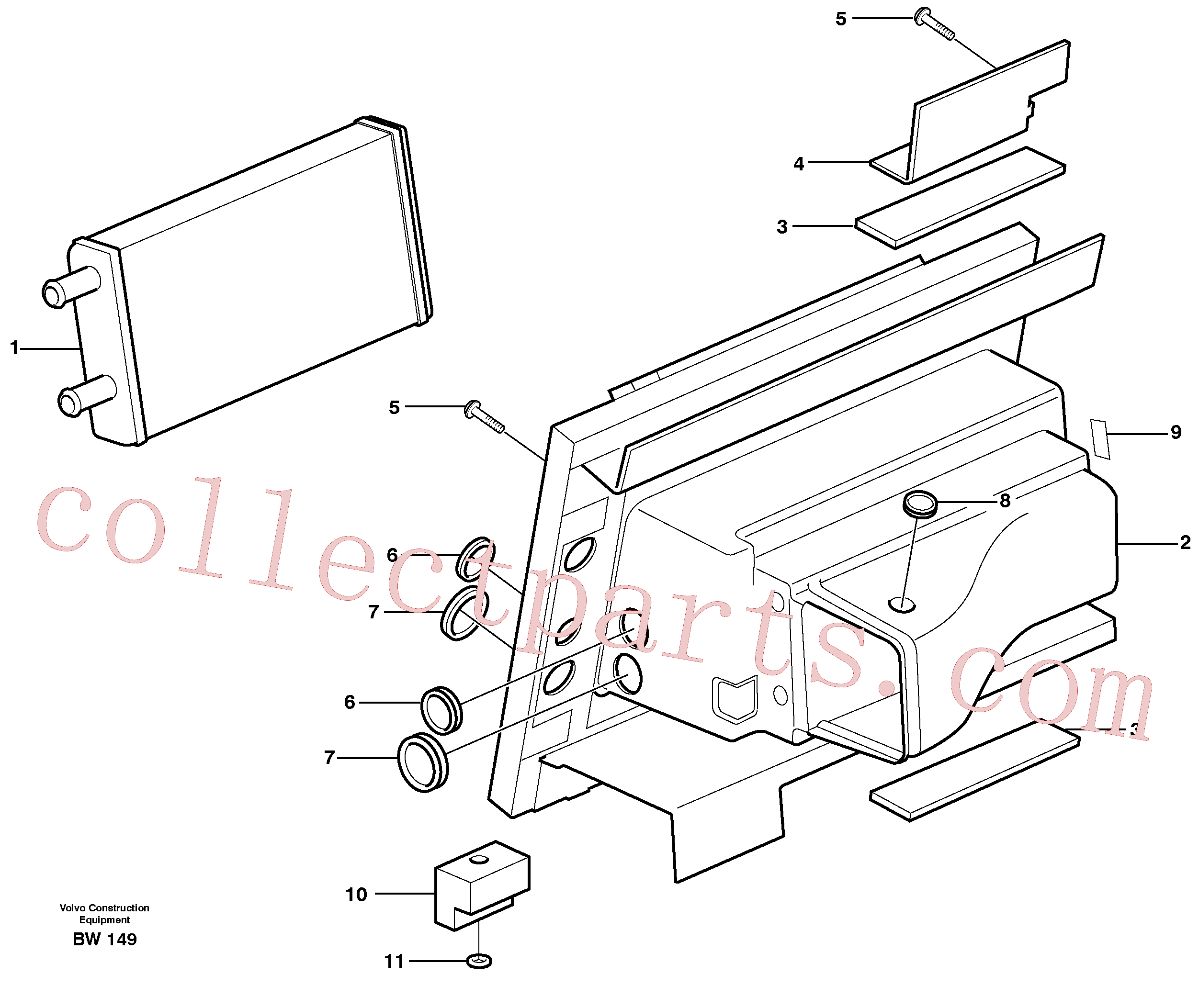 VOE14211218 for Volvo Heating unit(BW149 assembly)