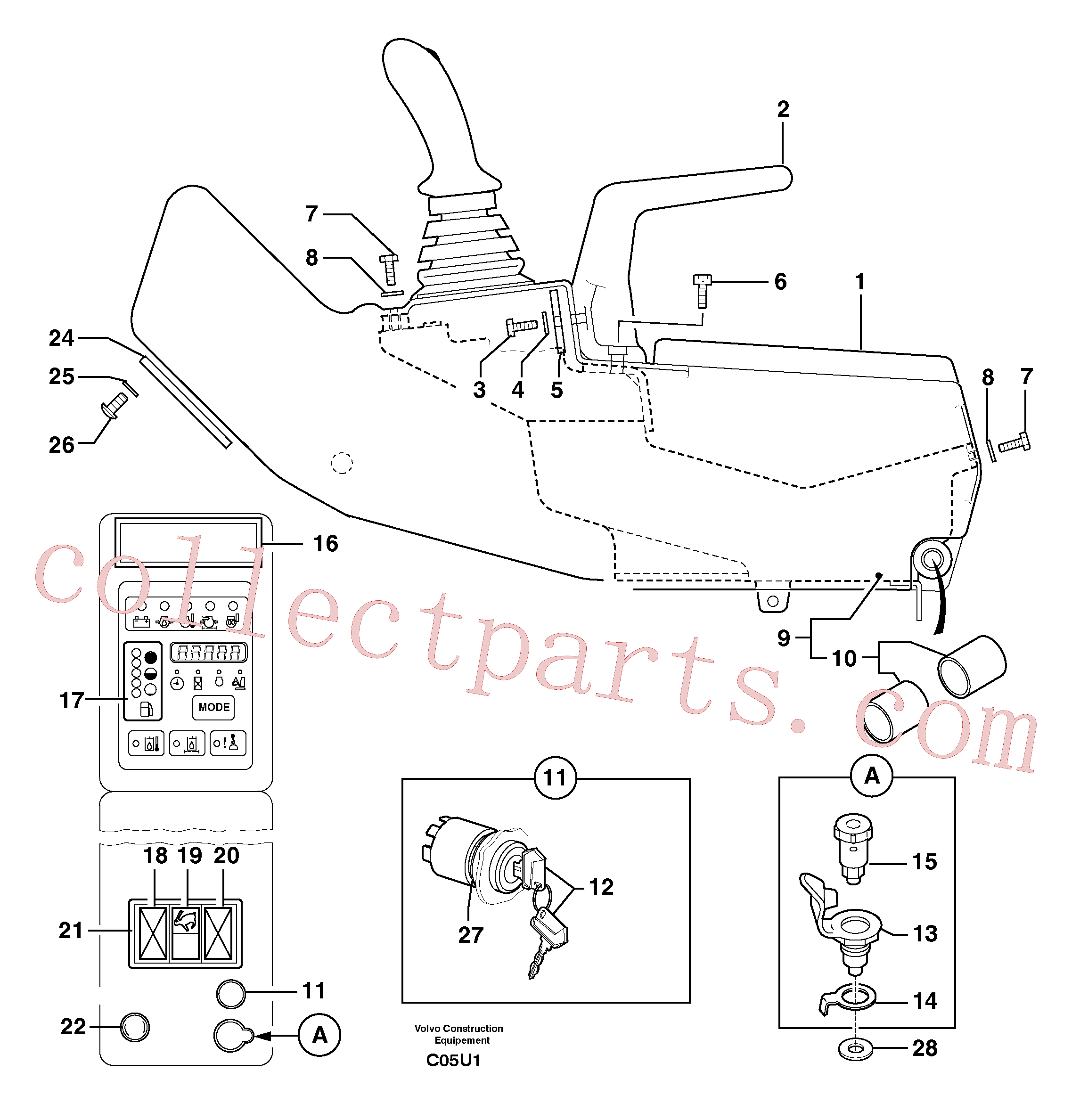 PJ4490010 for Volvo Operator's station : instrument panel ( right )(C05U1 assembly)