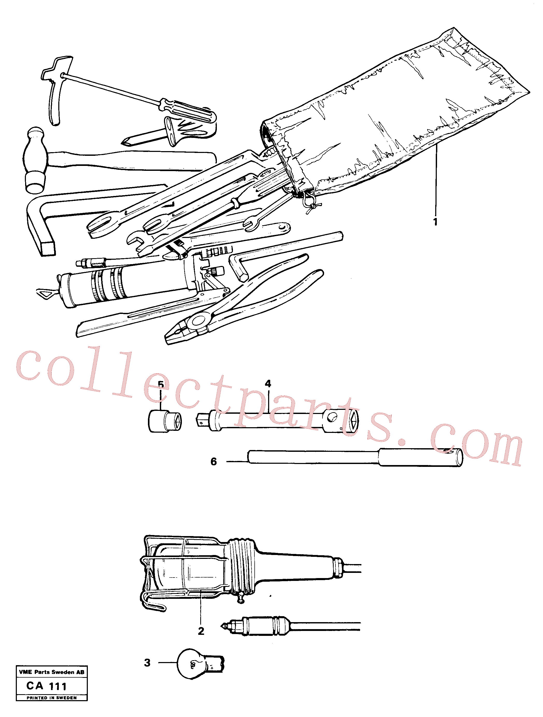 VOE13962303 for Volvo Tools(CA111 assembly)