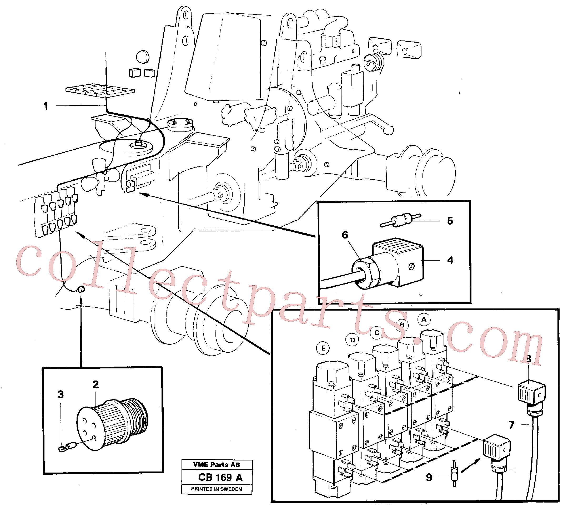 VOE6646637 for Volvo Electric system, rear(CB169A assembly)