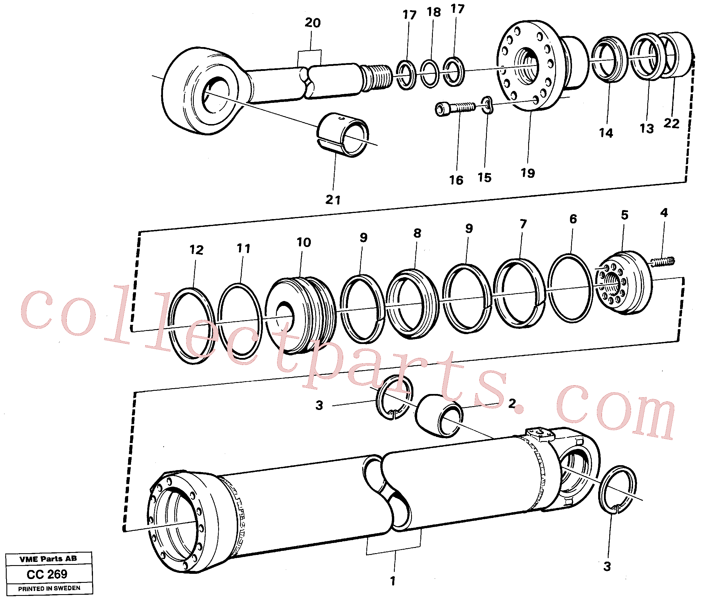 VOE184712 for Volvo Dipperstick cylinder(CC269 assembly)