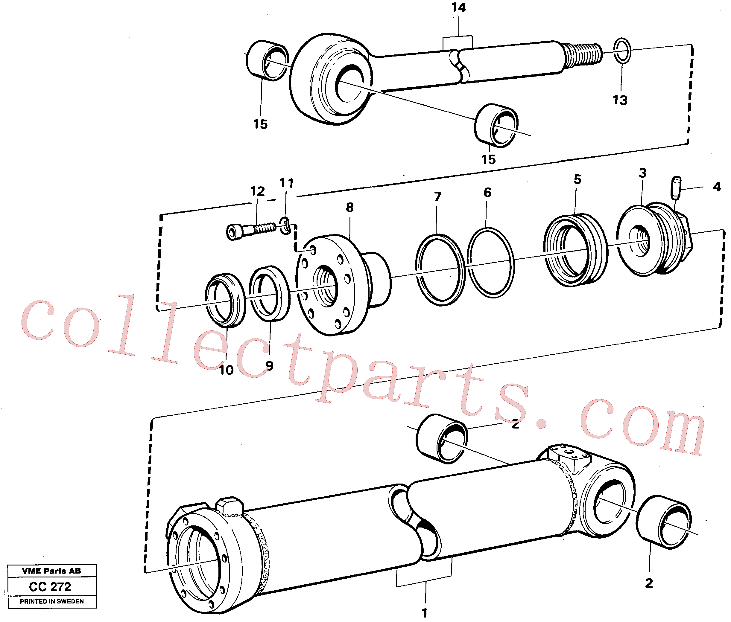 VOE4833023 for Volvo Extendable dipper cylinder(CC272 assembly)