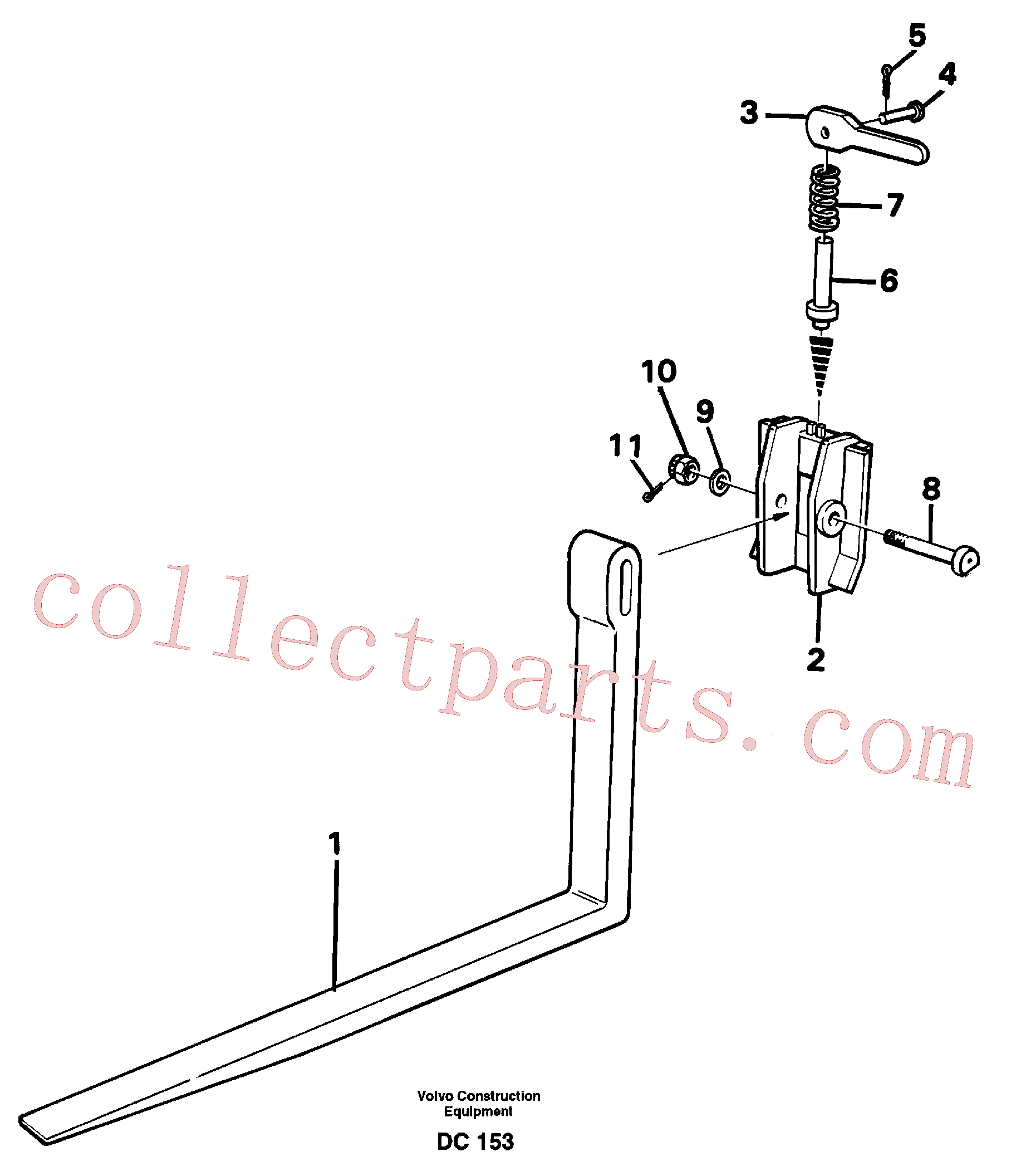VOE907872 for Volvo Fork tines(DC153 assembly)