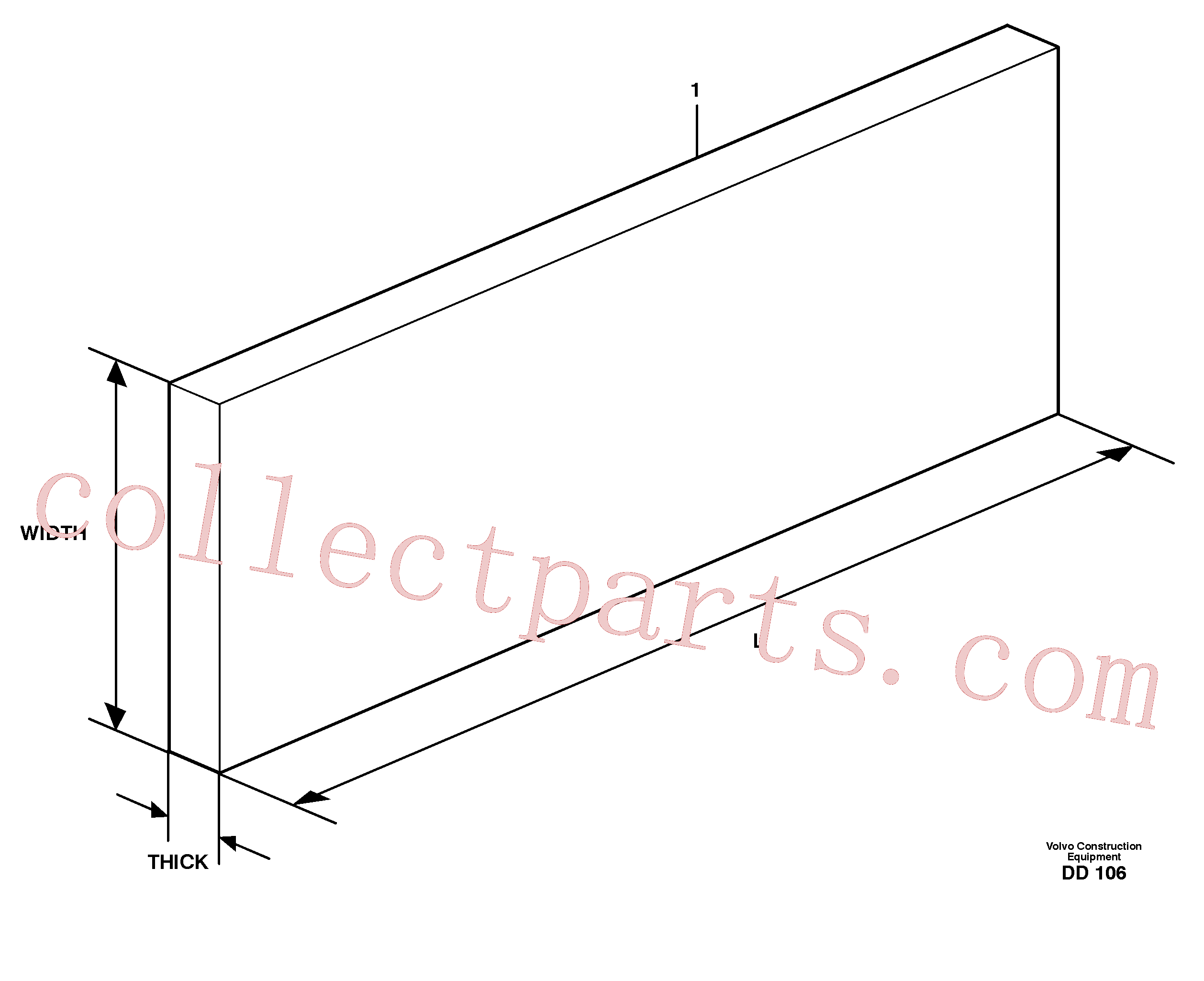 VOE11990981 for Volvo Wear resistant steel sheets, 500 Brinell(DD106 assembly)