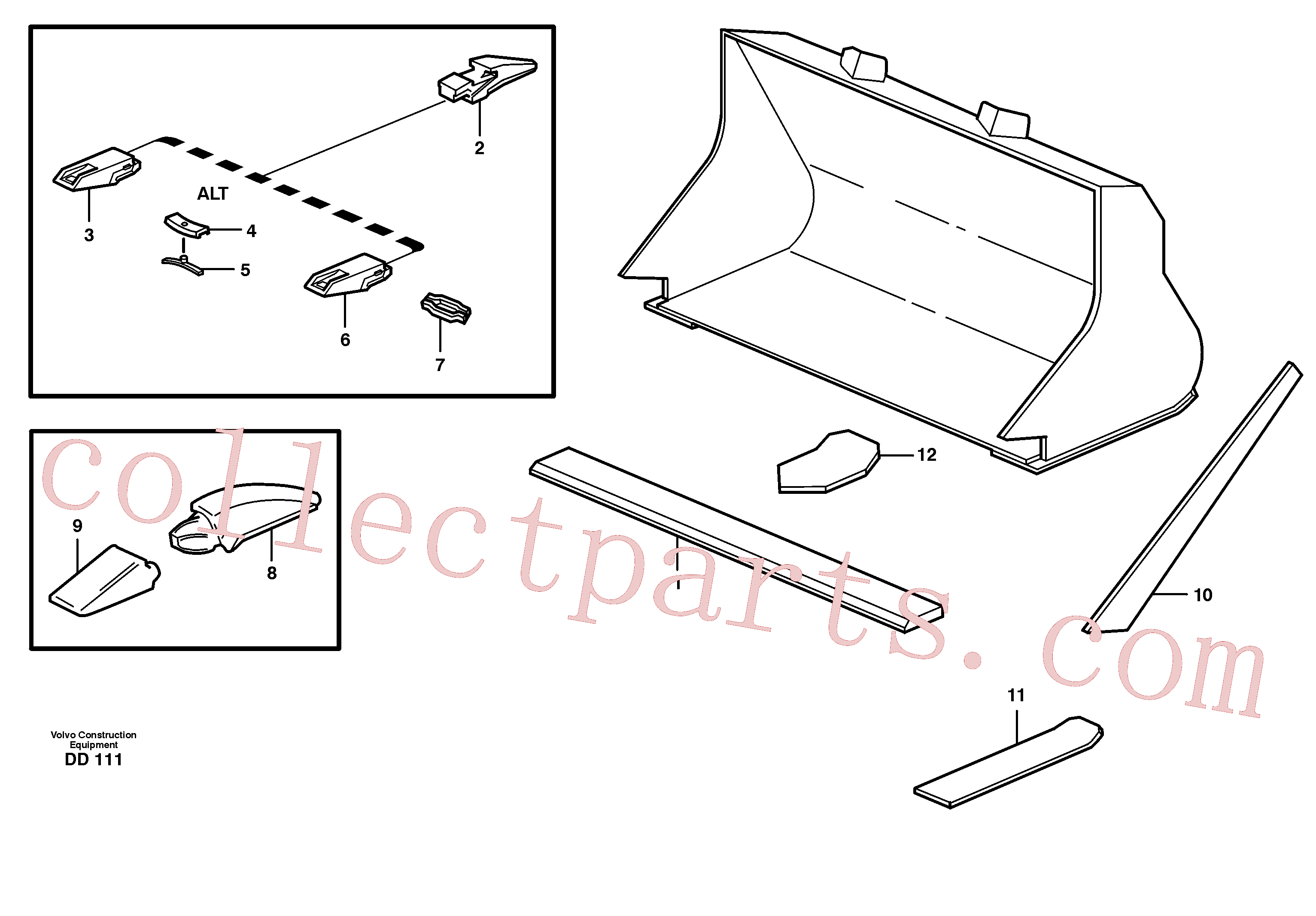 VOE4881710 for Volvo Bucket, straight with teeth(DD111 assembly)