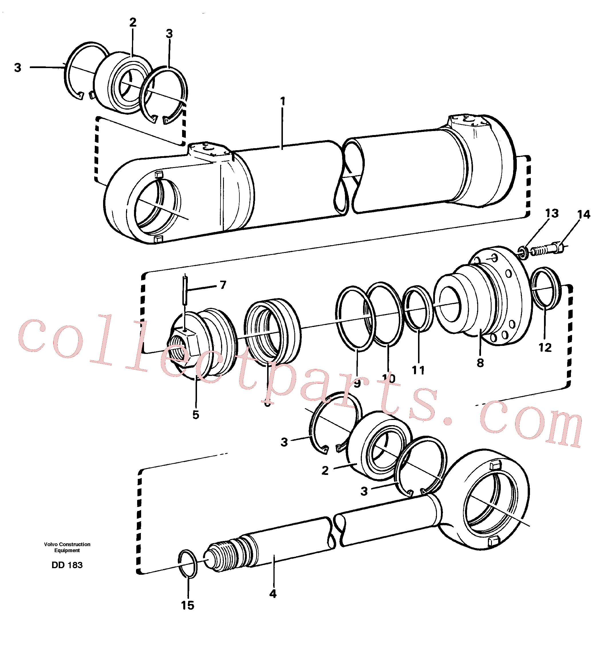 VOE4833023 for Volvo Hydraulic cylinder(DD183 assembly)