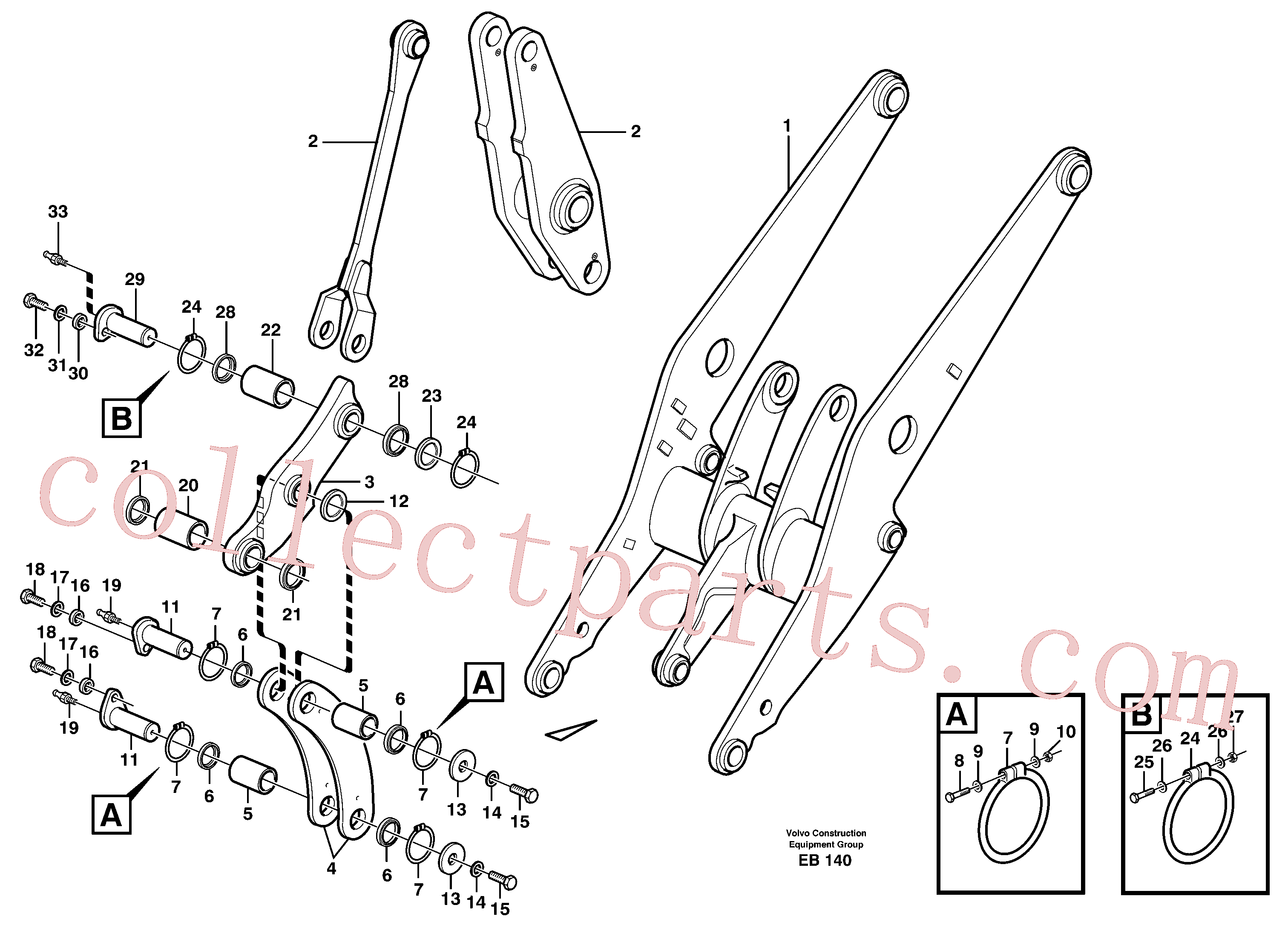 VOE14014632 for Volvo Forward links with assembly parts(EB140 assembly)