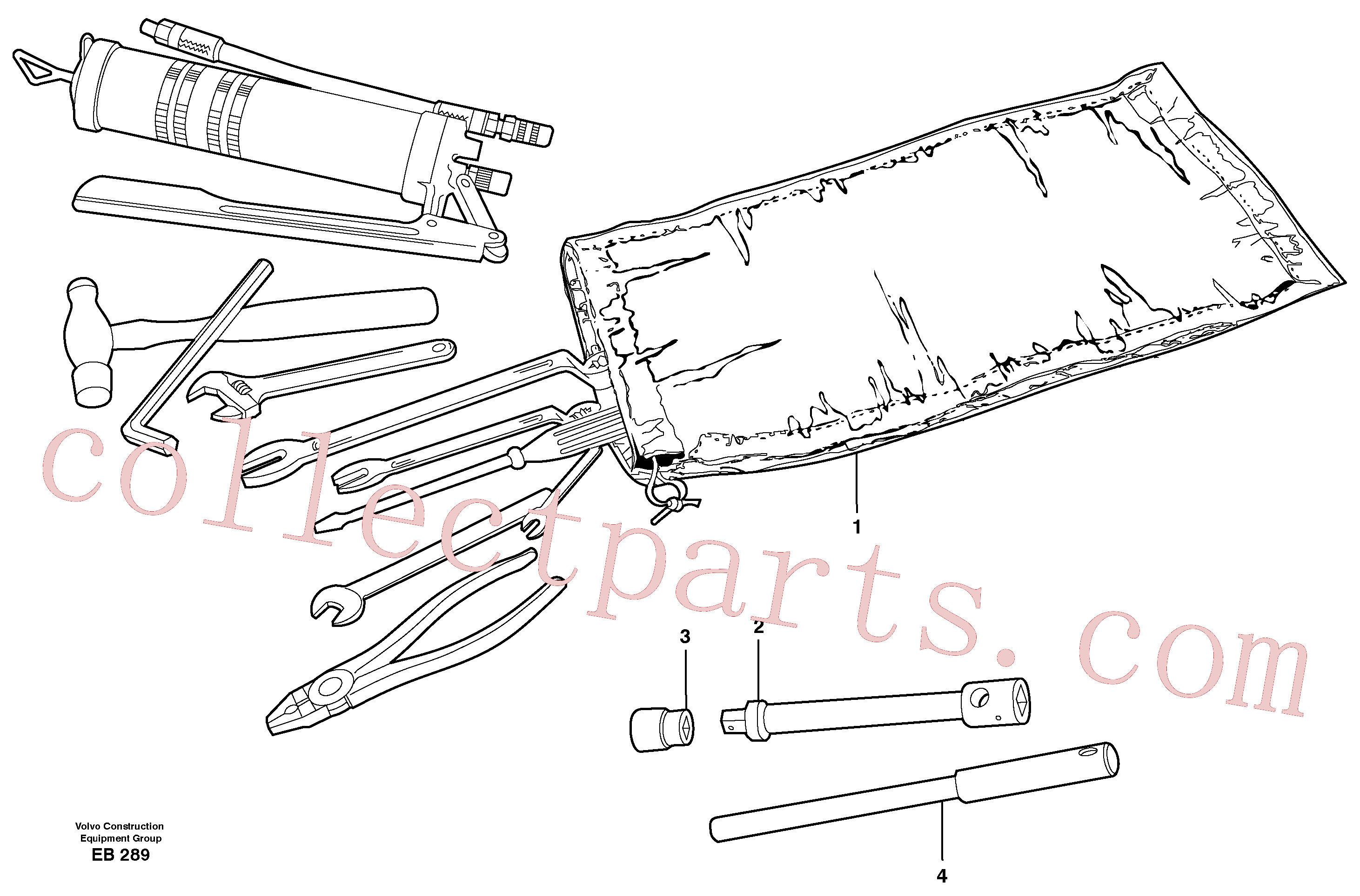 VOE13962045 for Volvo Tools(EB289 assembly)