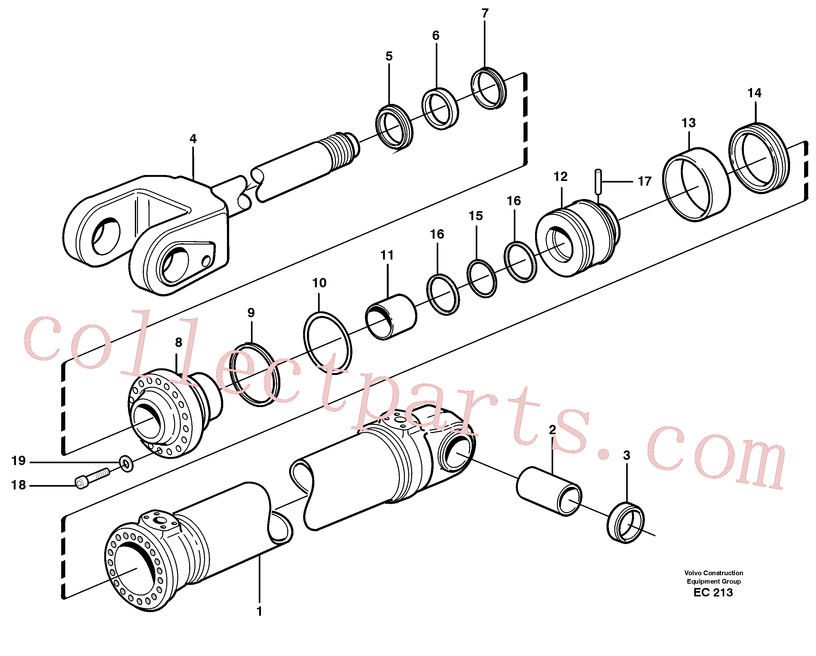 VOE925258 for Volvo Hydraulic cylinder, lifting.(EC213 assembly)