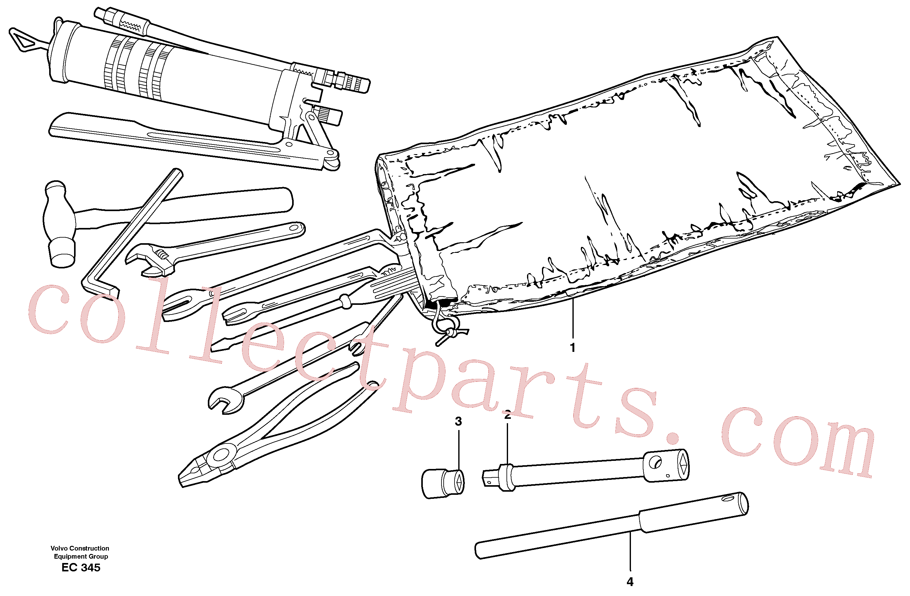 VOE13962045 for Volvo Tools(EC345 assembly)