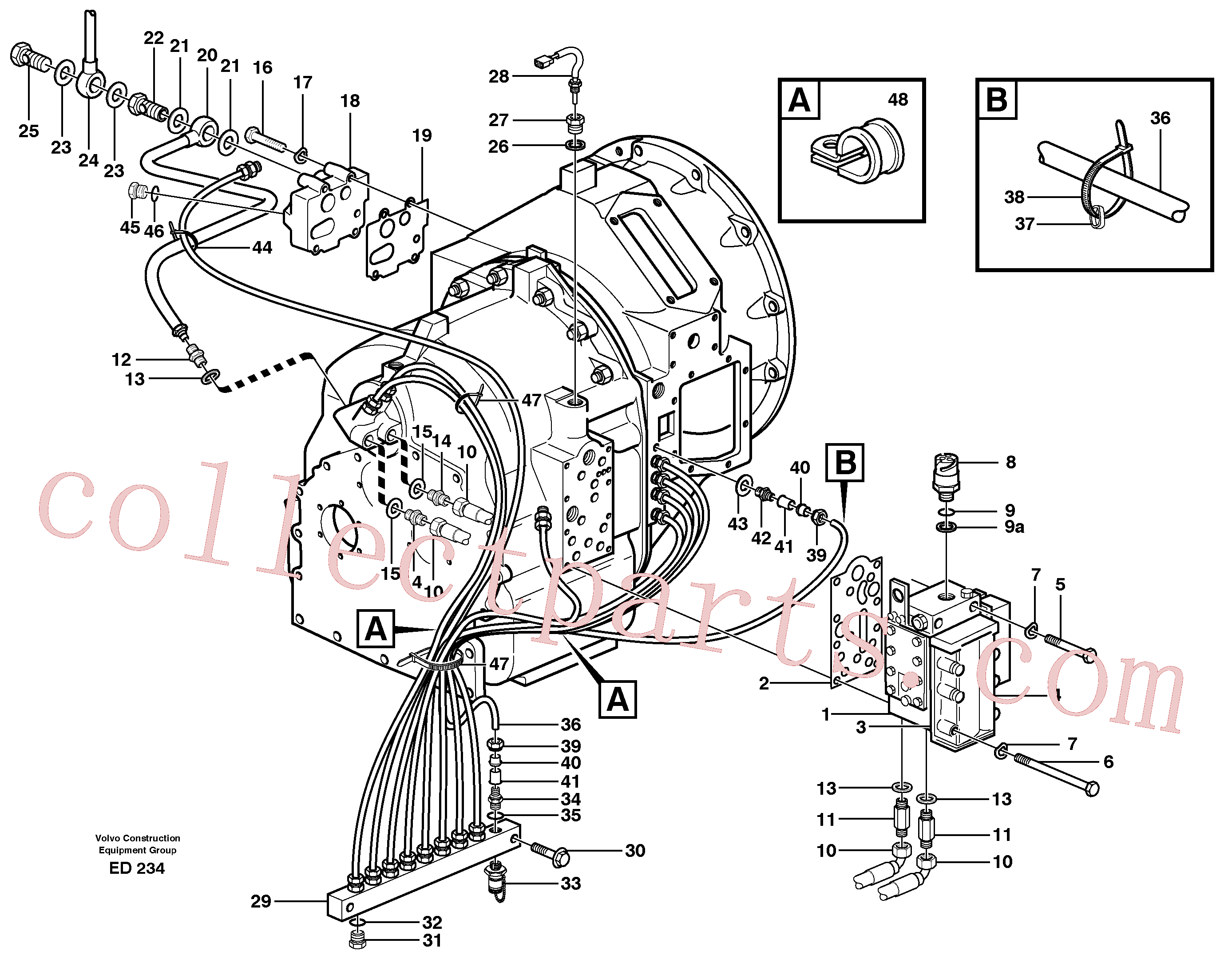 VOE11130884 for Volvo Hydraulic lines and valve(ED234 assembly)