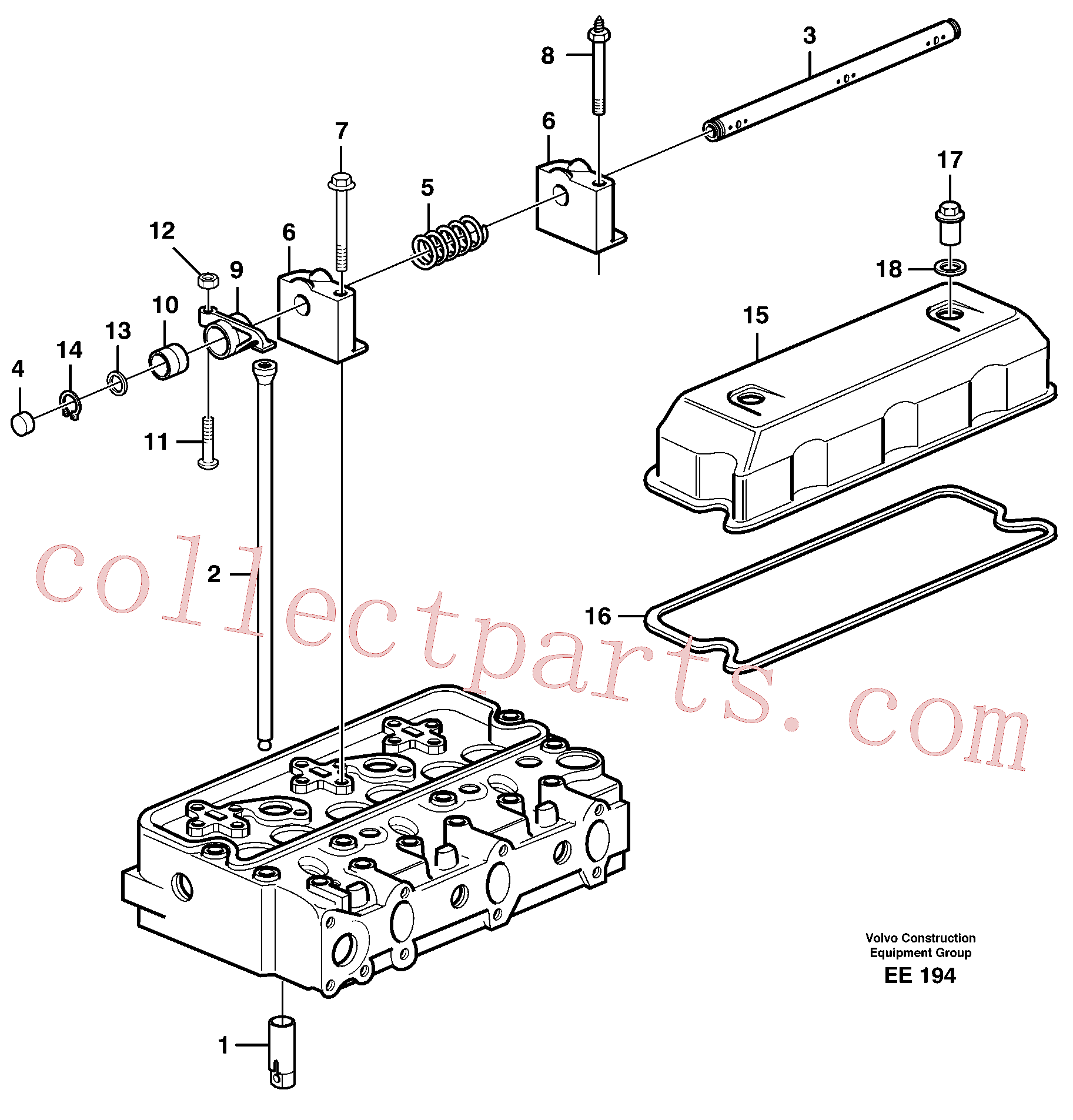 VOE14012976 for Volvo Valve mechanism(EE194 assembly)