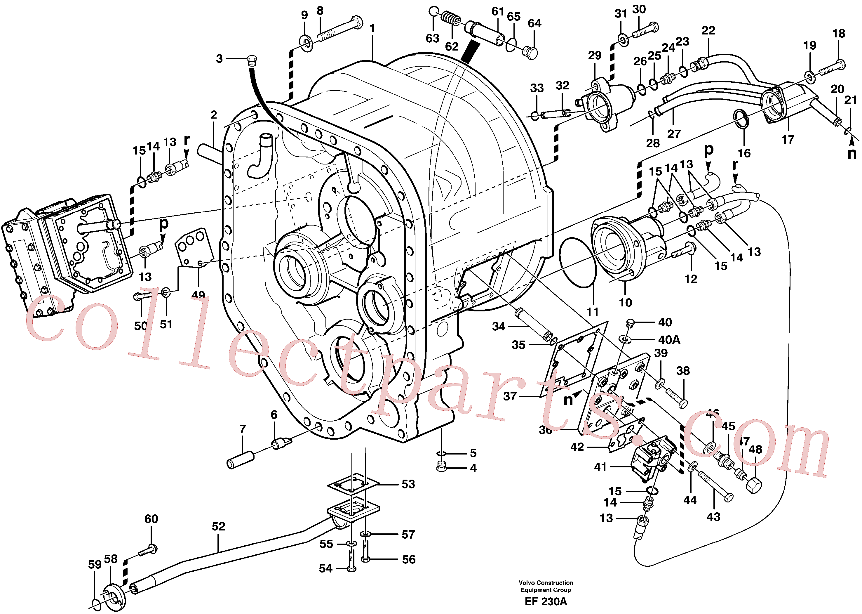 VOE11034156 for Volvo Converter housing with fitting parts(EF230A assembly)