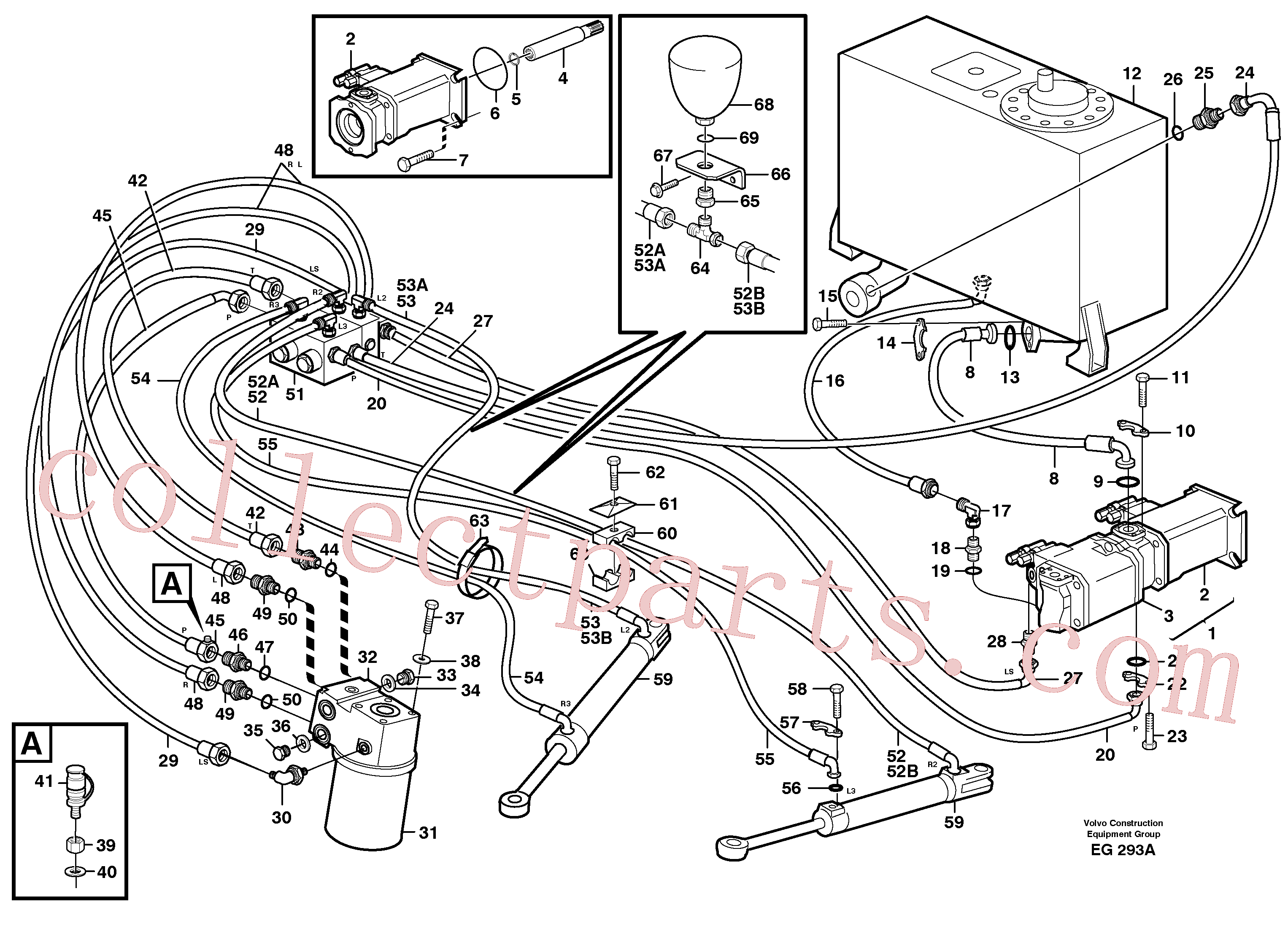 VOE14014599 for Volvo Steering system(EG293A assembly)