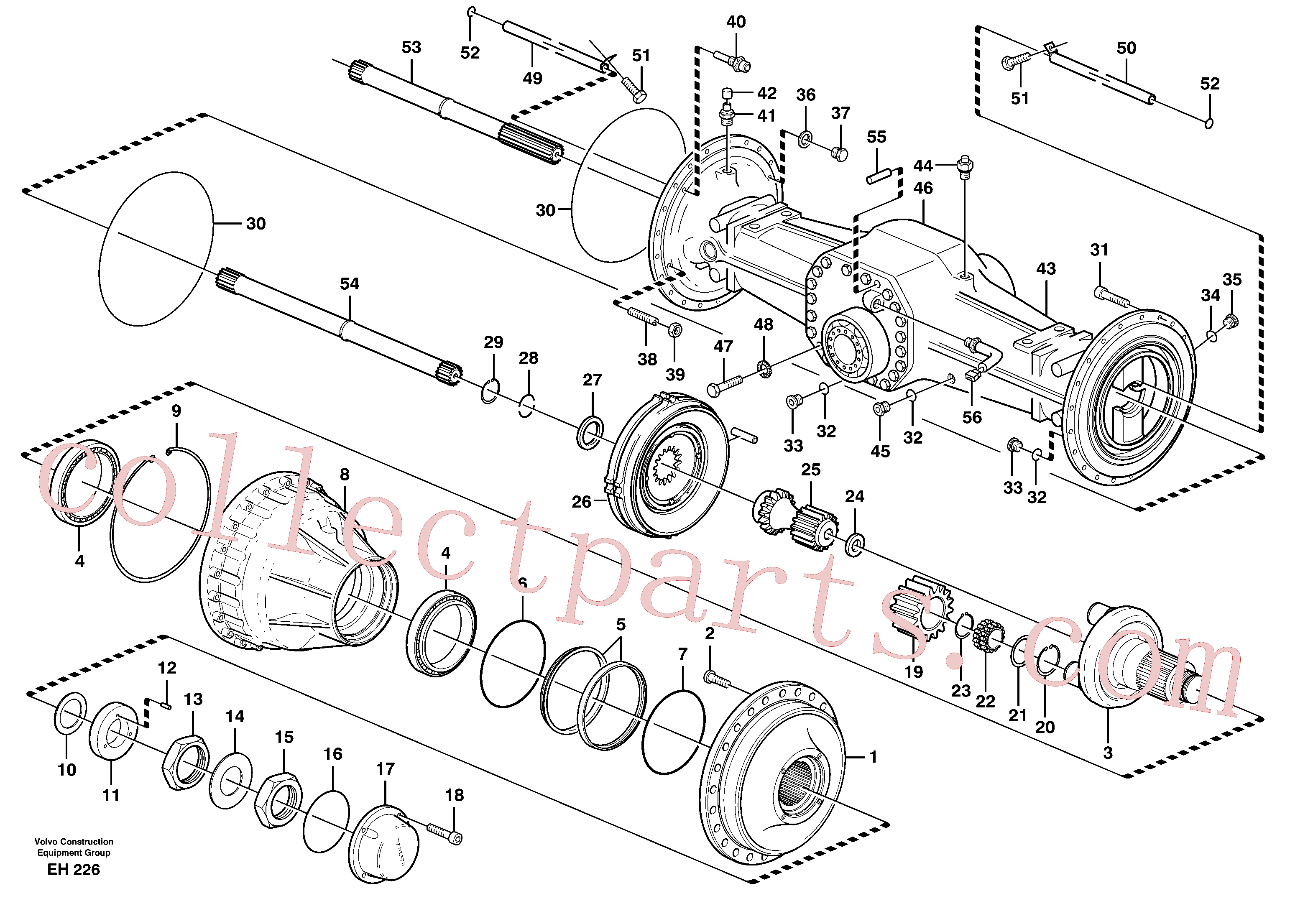 VOE11034156 for Volvo Planetary axle, rear(EH226 assembly)