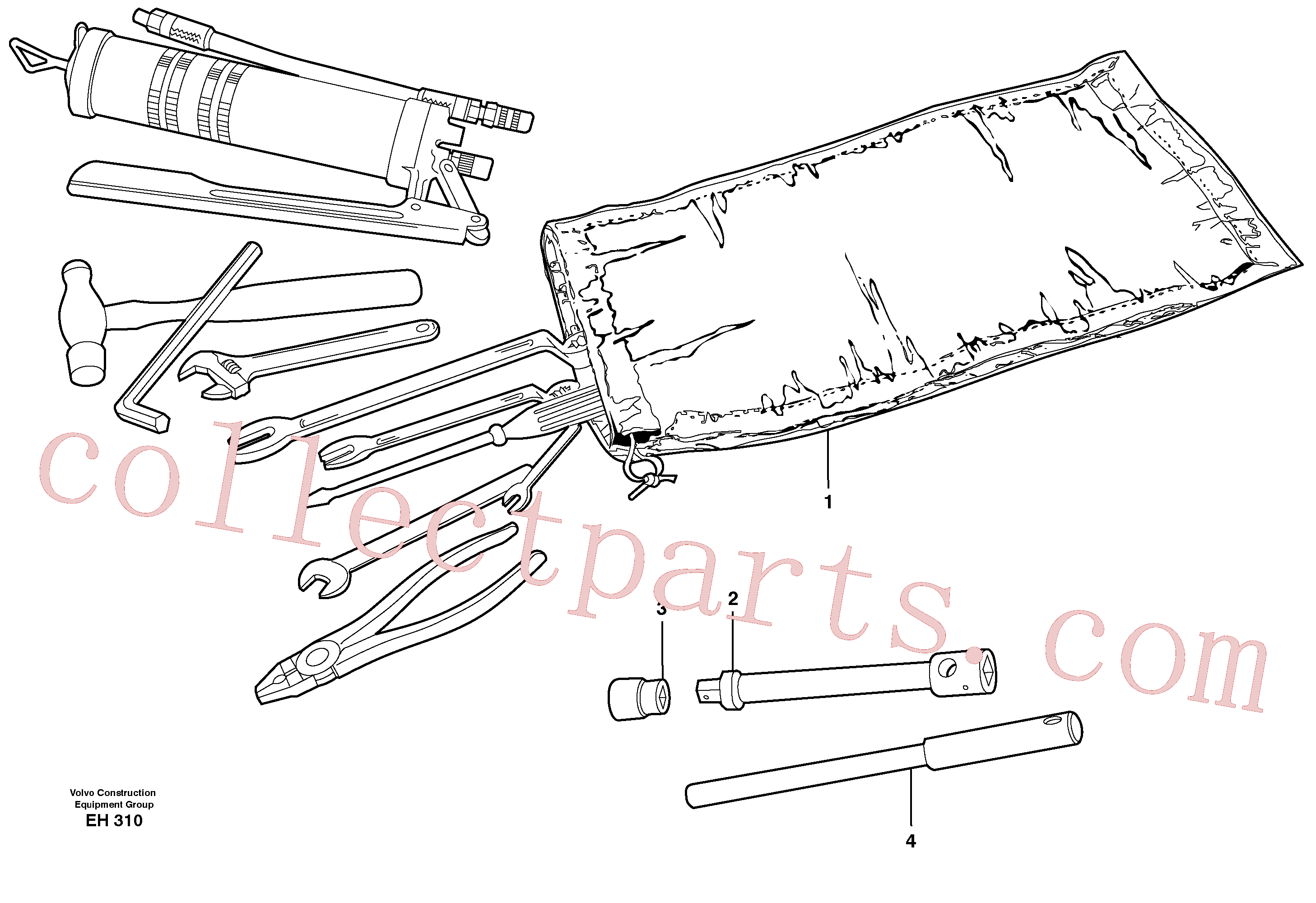 VOE962213 for Volvo Tools(EH310 assembly)