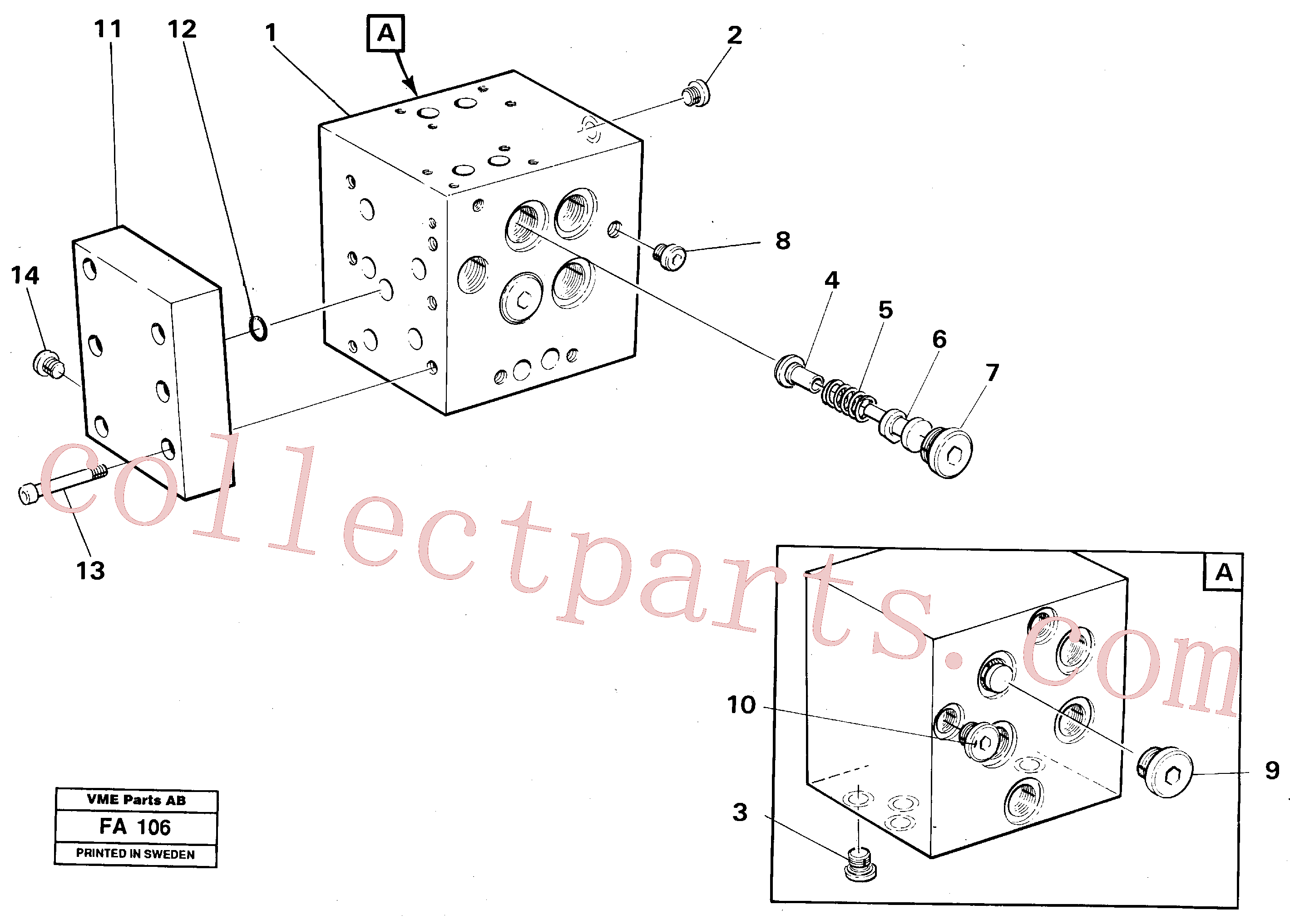 VOE14049071 for Volvo Slew valve block(FA106 assembly)