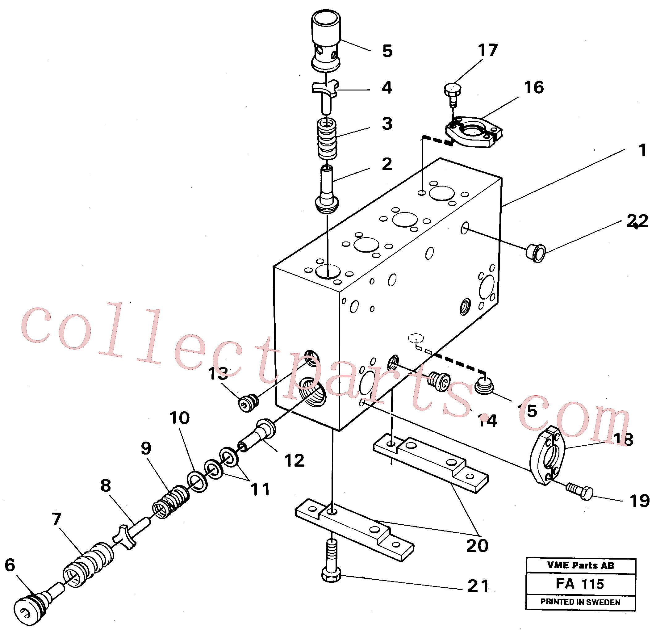 VOE14024900 for Volvo Connection board(FA115 assembly)