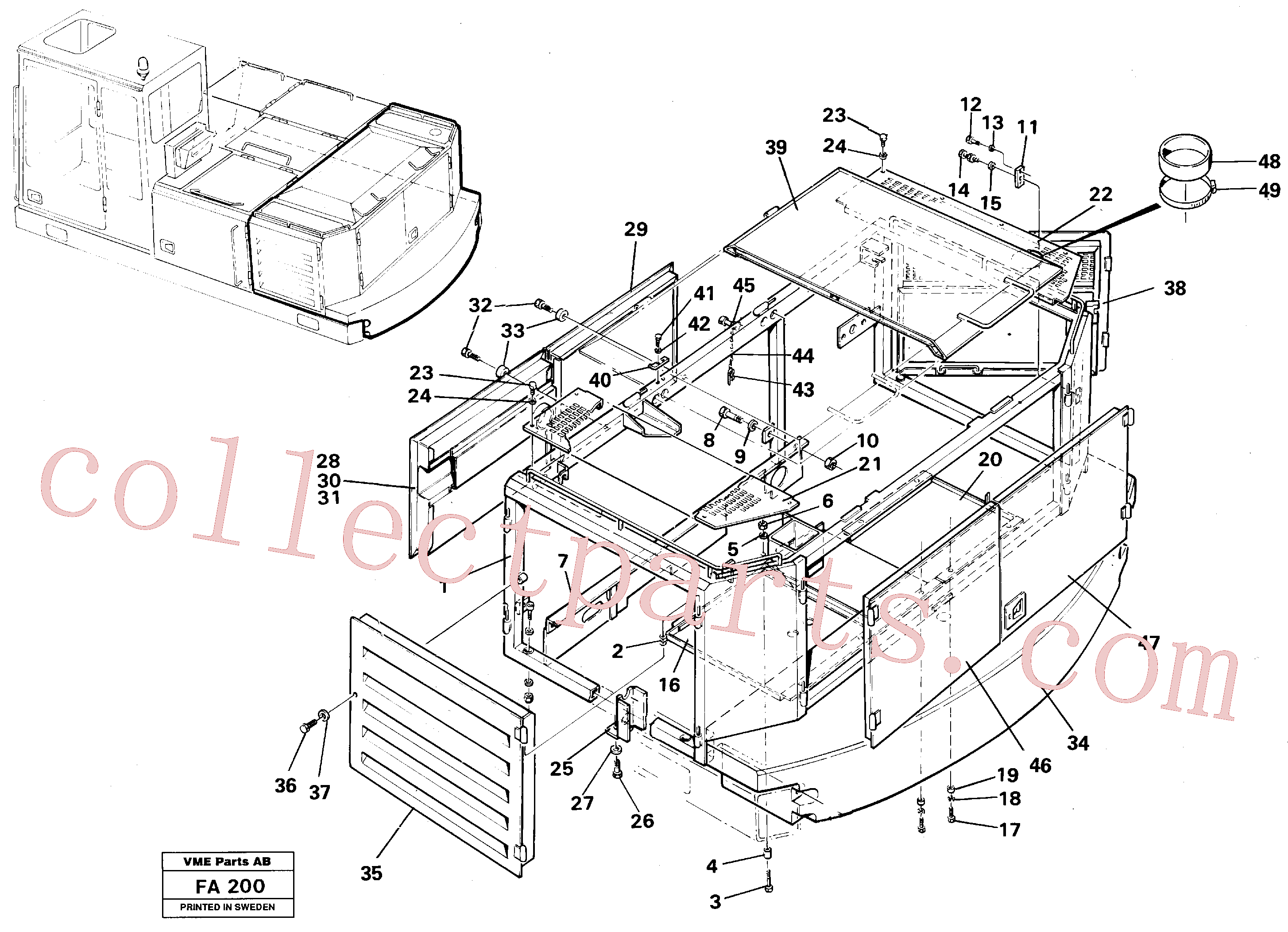 VOE14014653 for Volvo Engine cover, Rear(FA200 assembly)