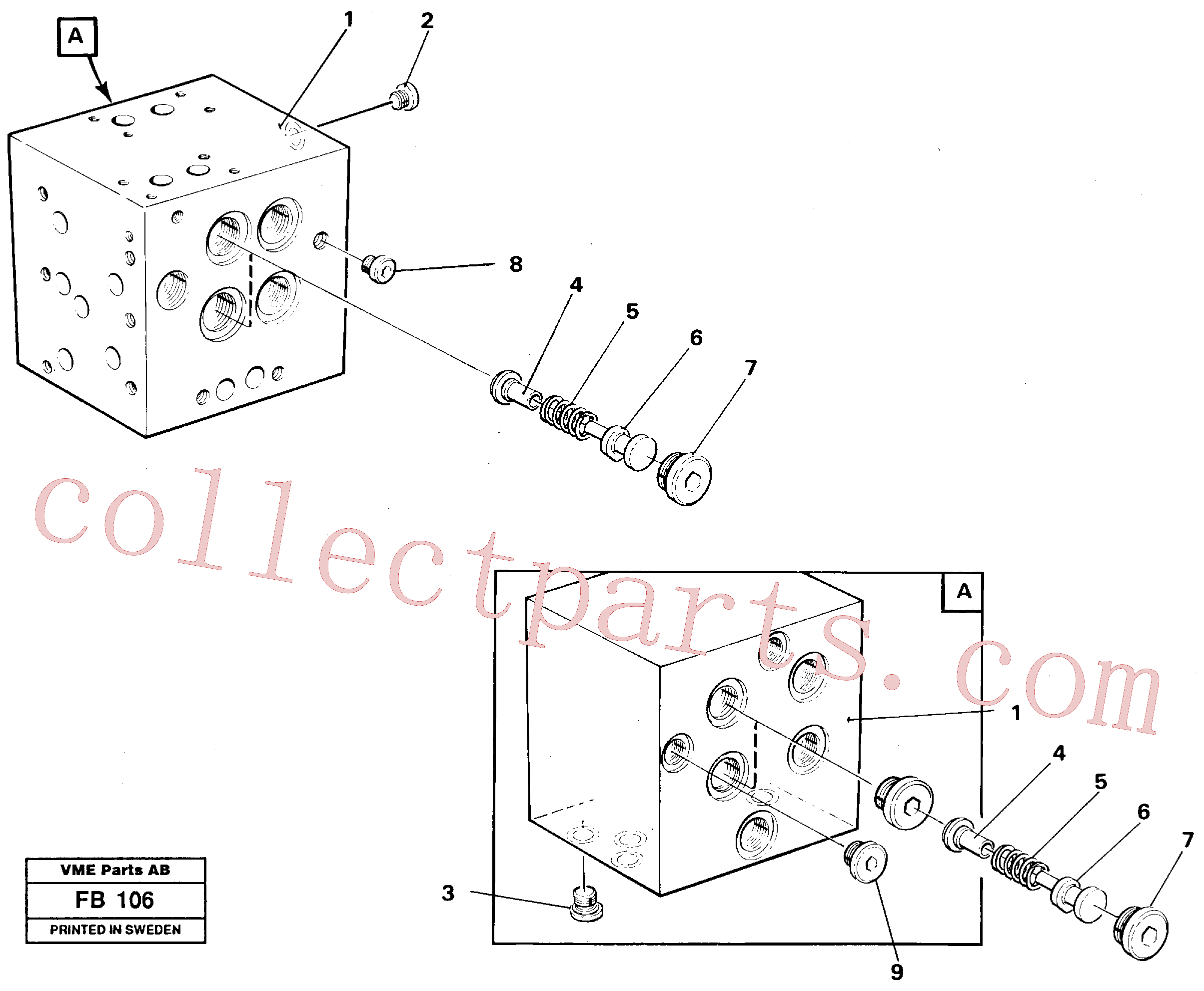 VOE14049795 for Volvo Slew valve block(FB106 assembly)