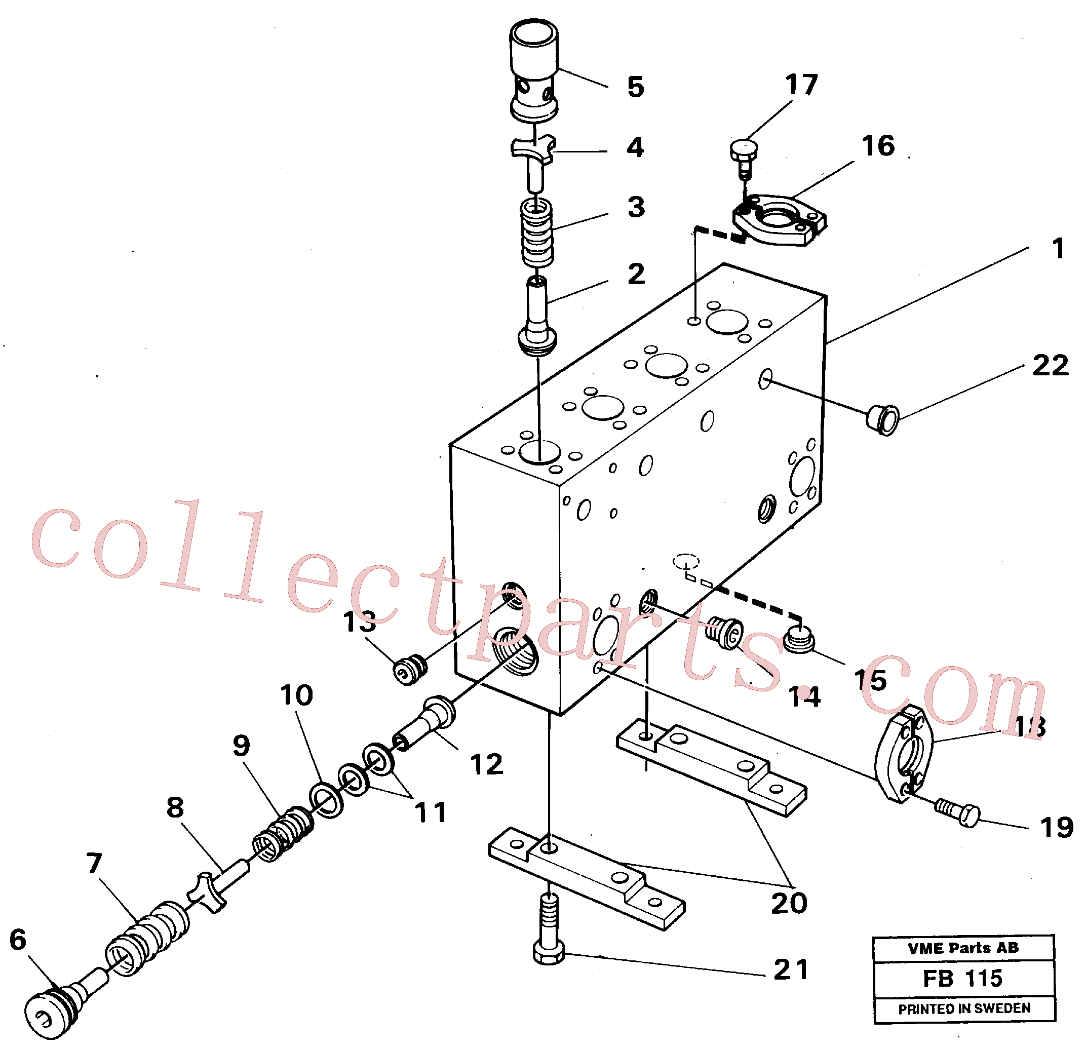 VOE14024900 for Volvo Connection board(FB115 assembly)