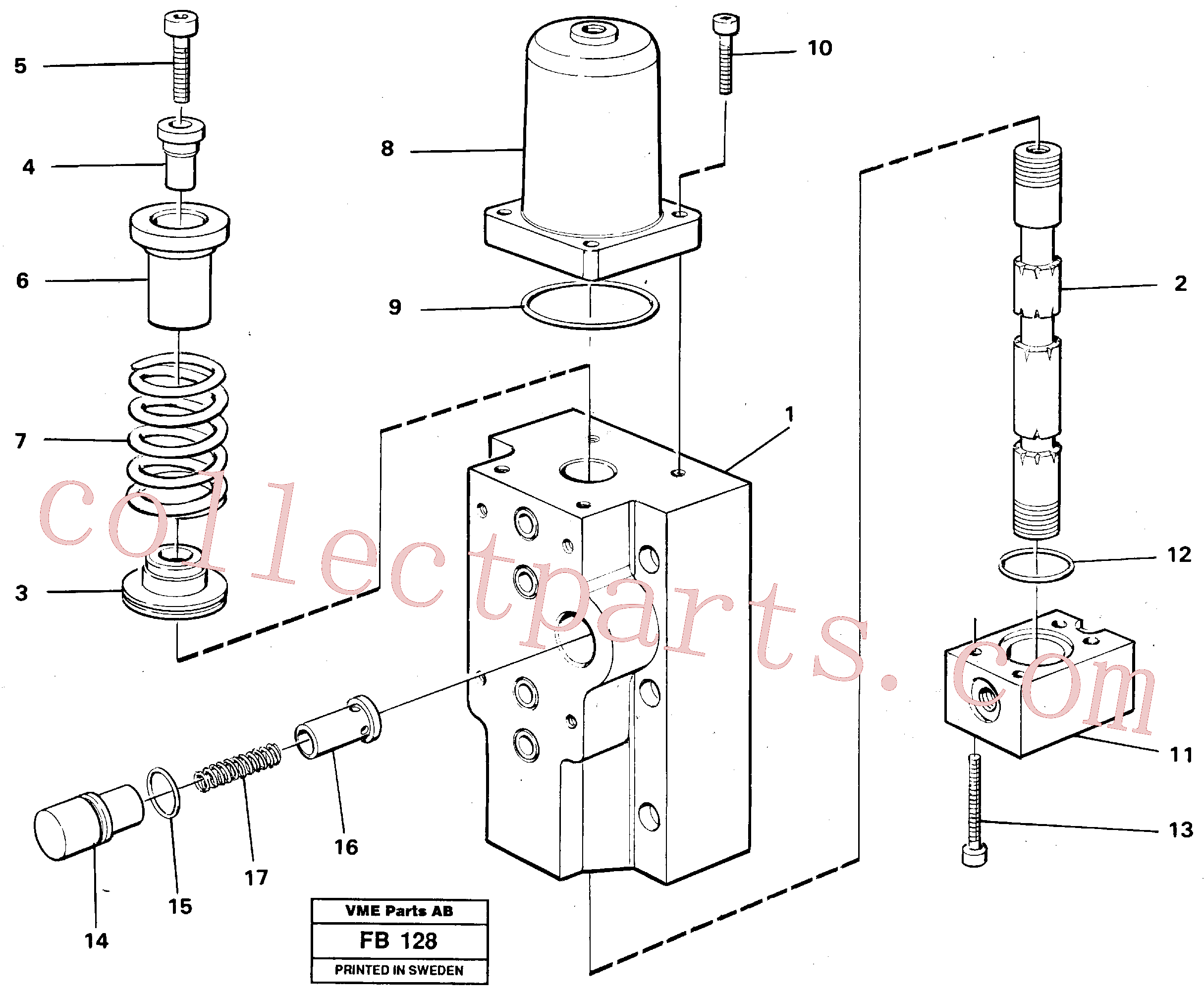 VOE14261819 for Volvo Four-way valves Primary(FB128 assembly)