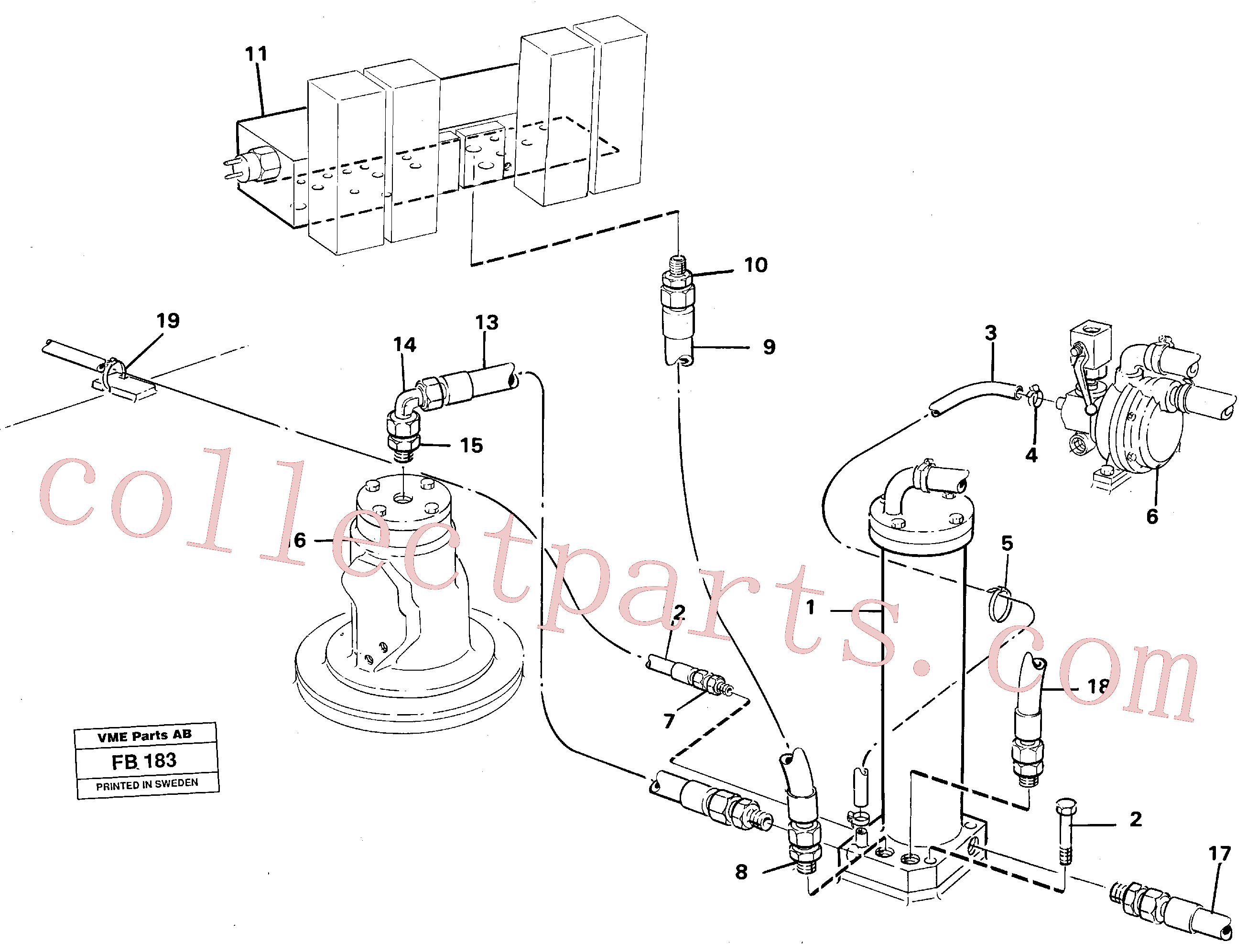 VOE14232690 for Volvo Leak oil filter incl. connections(FB183 assembly)