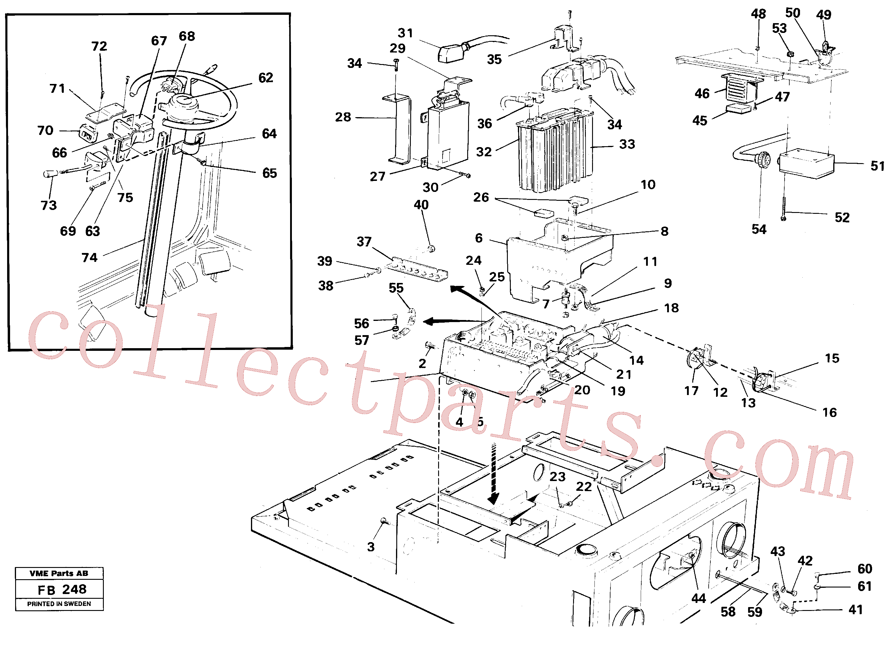 VOE14252722 for Volvo Electric installation on driver's seat(FB248 assembly)