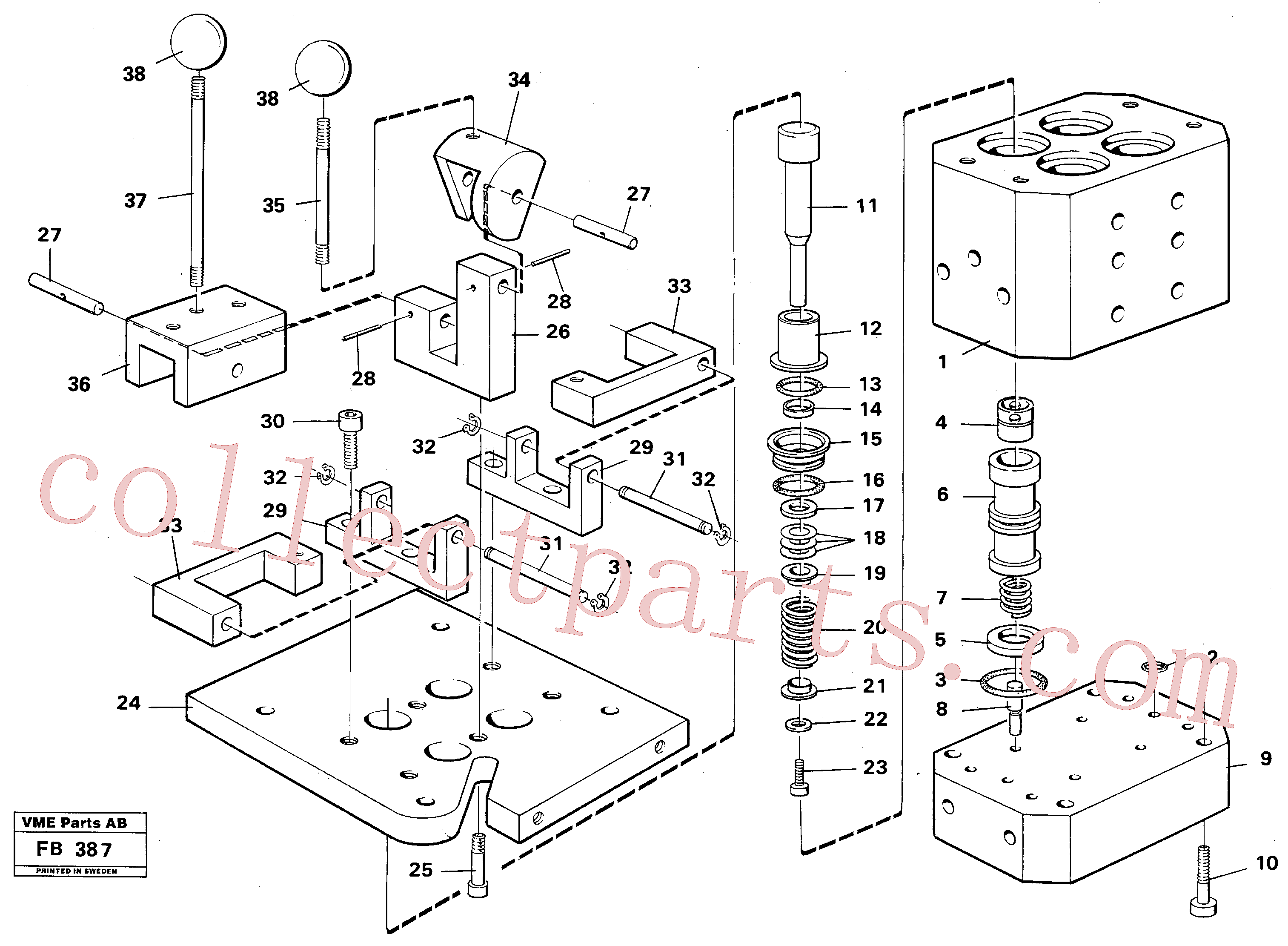 VOE14014658 for Volvo Control pressure valve(FB387 assembly)