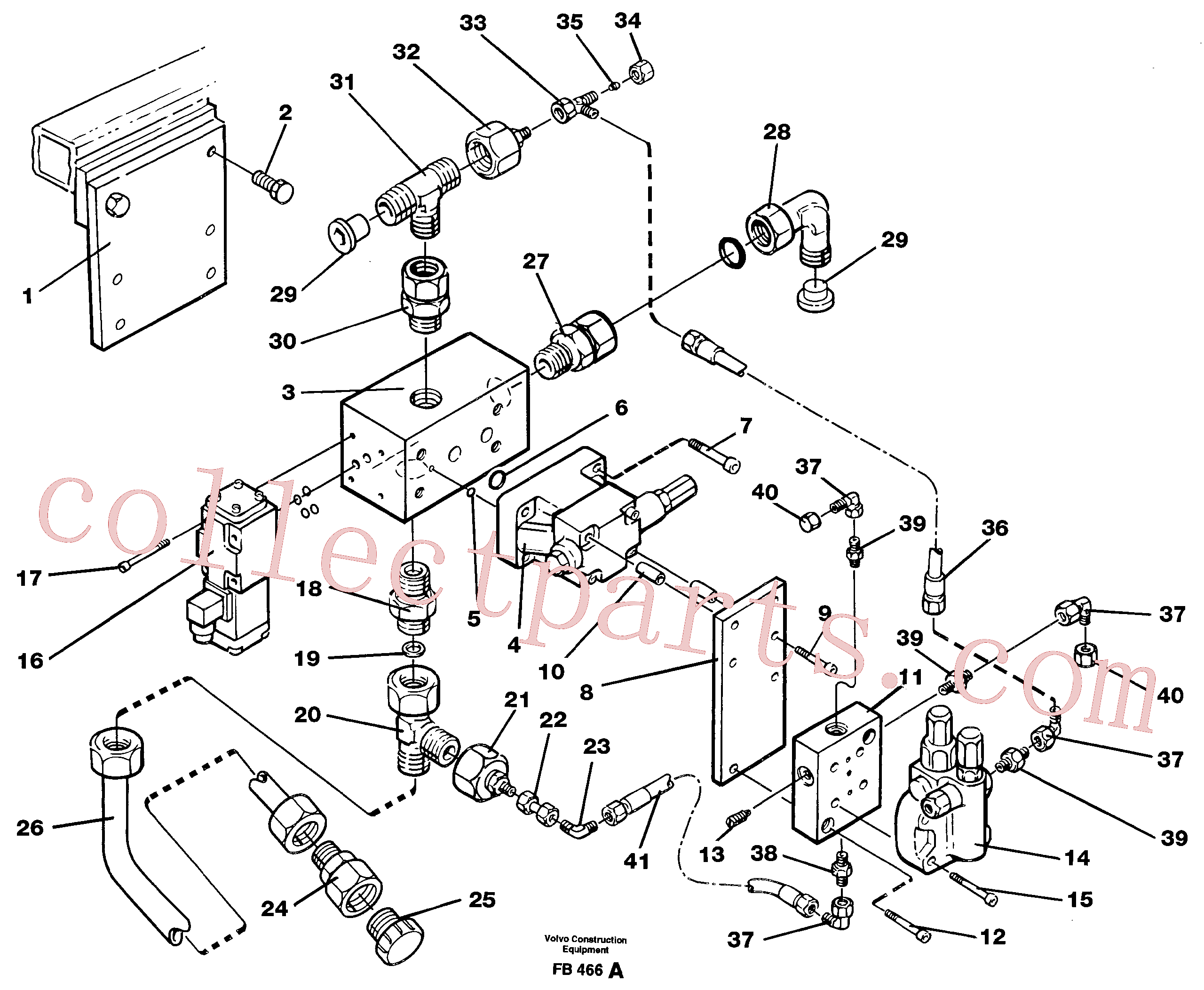 VOE14211065 for Volvo Magnet equipment, Älmhult, valve assembly(FB466A assembly)