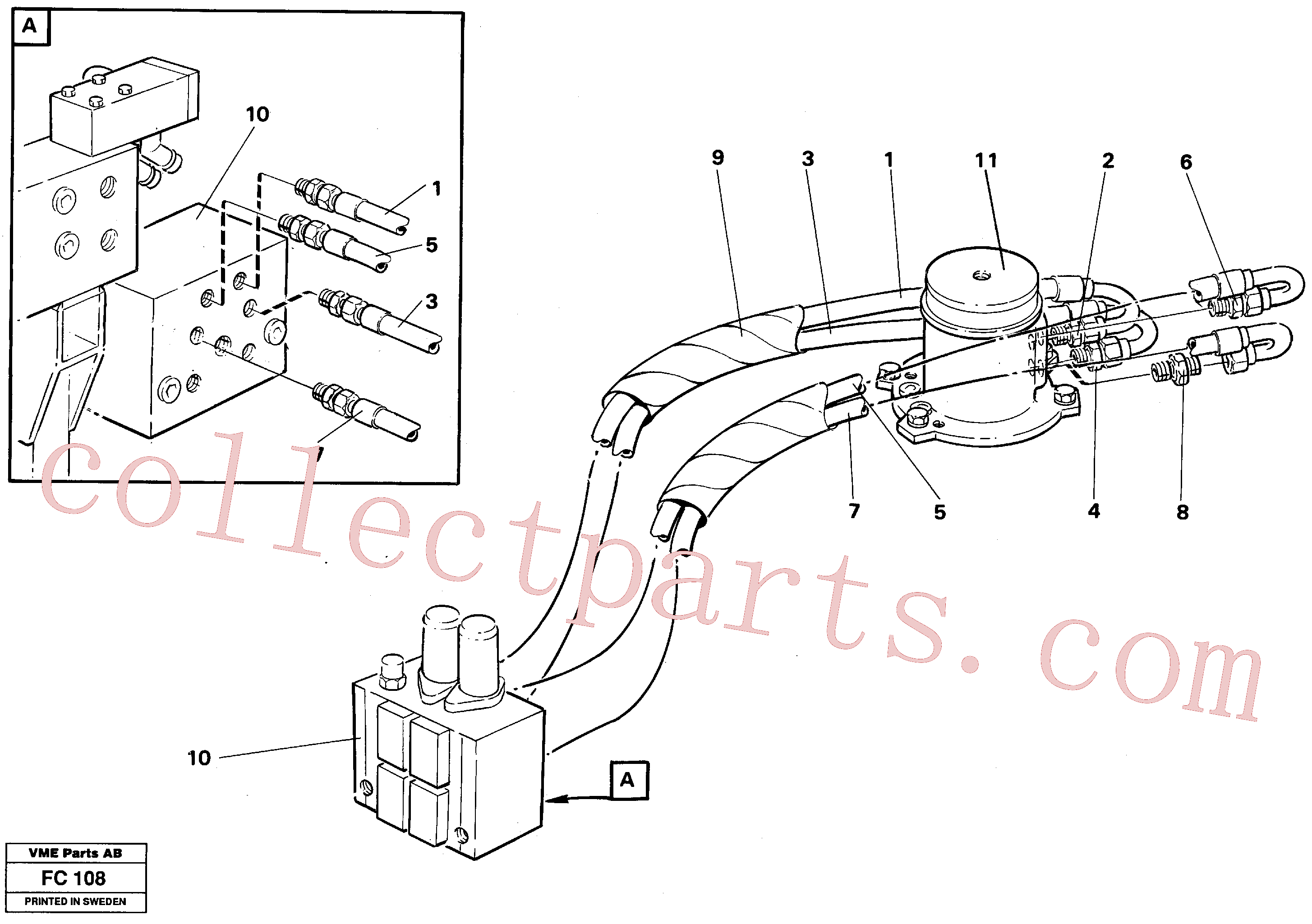 VOE14251421 for Volvo Hydraulic system, transport in uppercarrige(FC108 assembly)