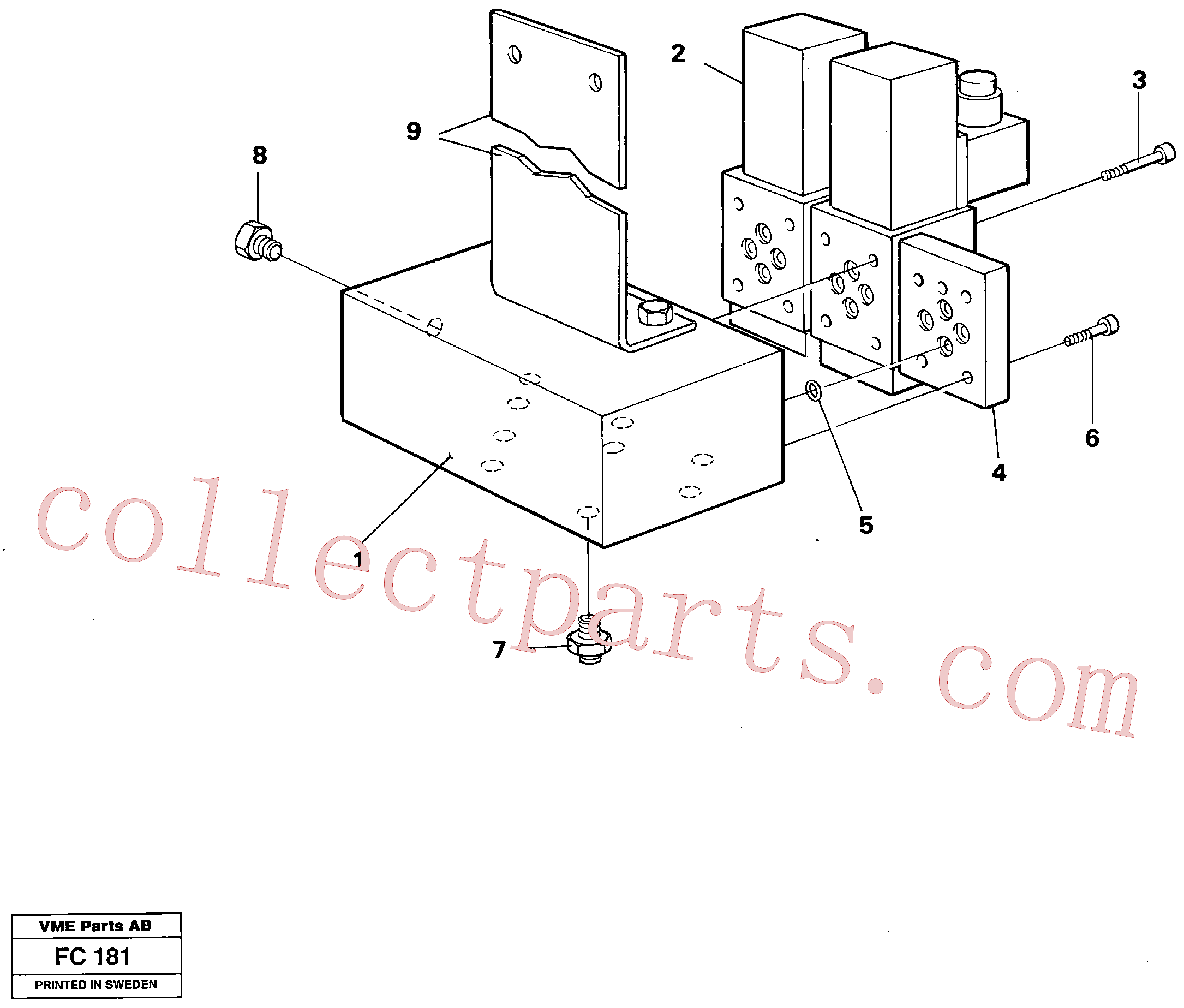 VOE14253261 for Volvo Electric valve block(FC181 assembly)