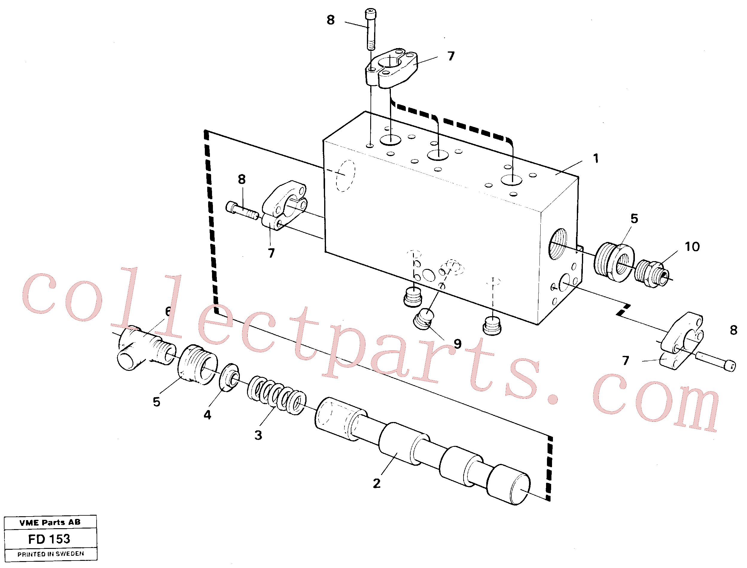 VOE14214989 for Volvo Operating valve, grab bucket(FD153 assembly)