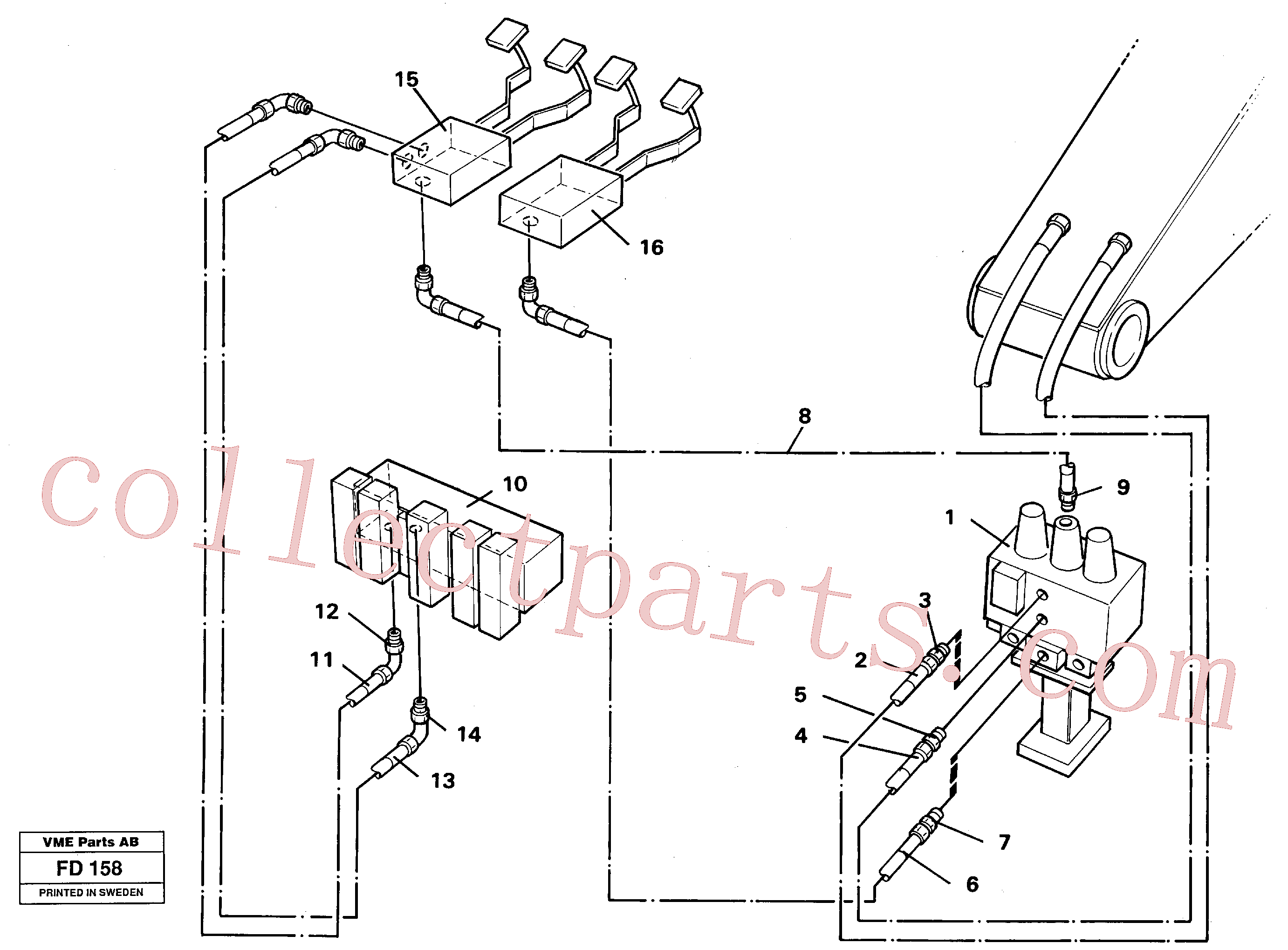 VOE14250306 for Volvo Slope/grab equipment, base machine(FD158 assembly)