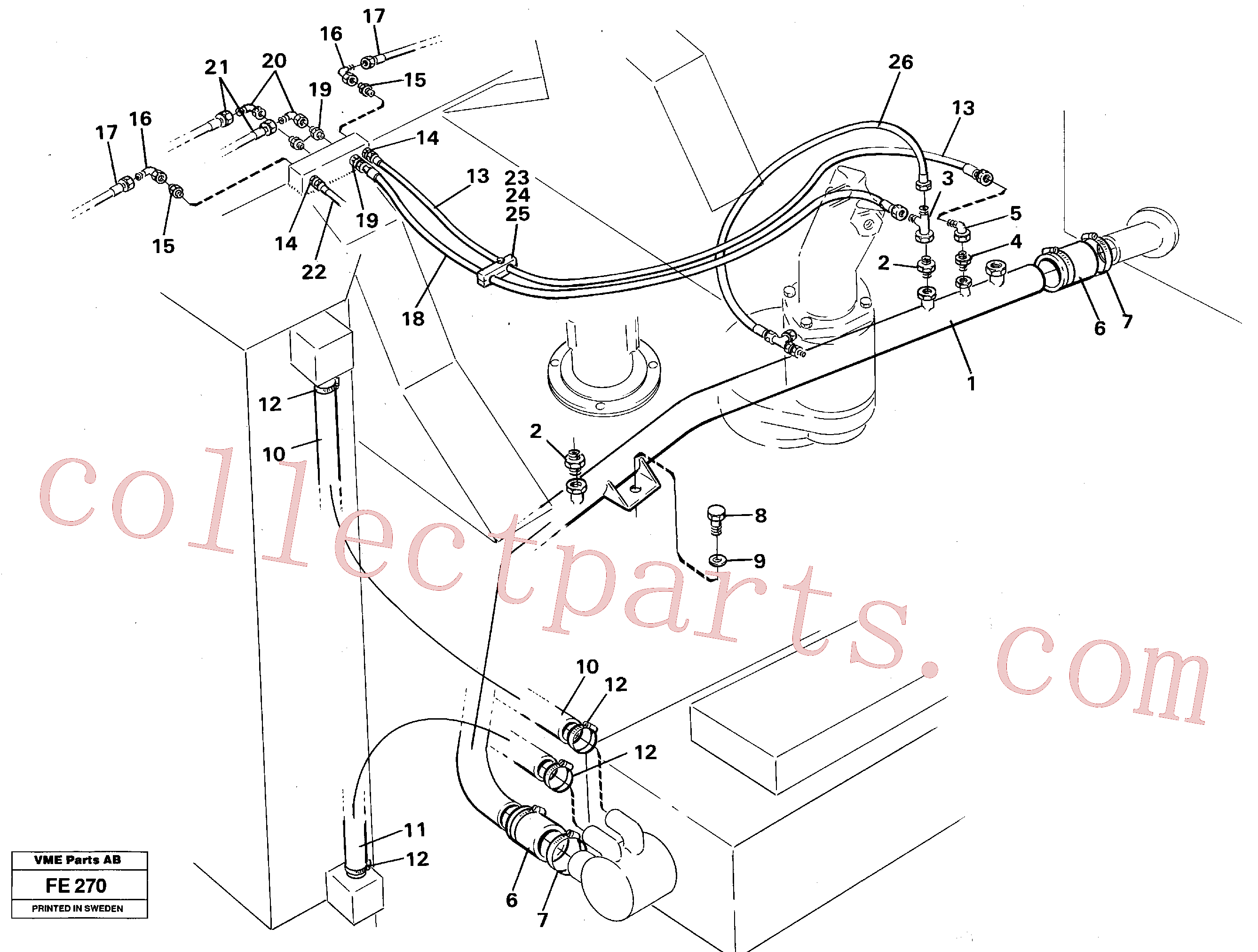 VOE14047202 for Volvo Hydraulic system, return lines(FE270 assembly)
