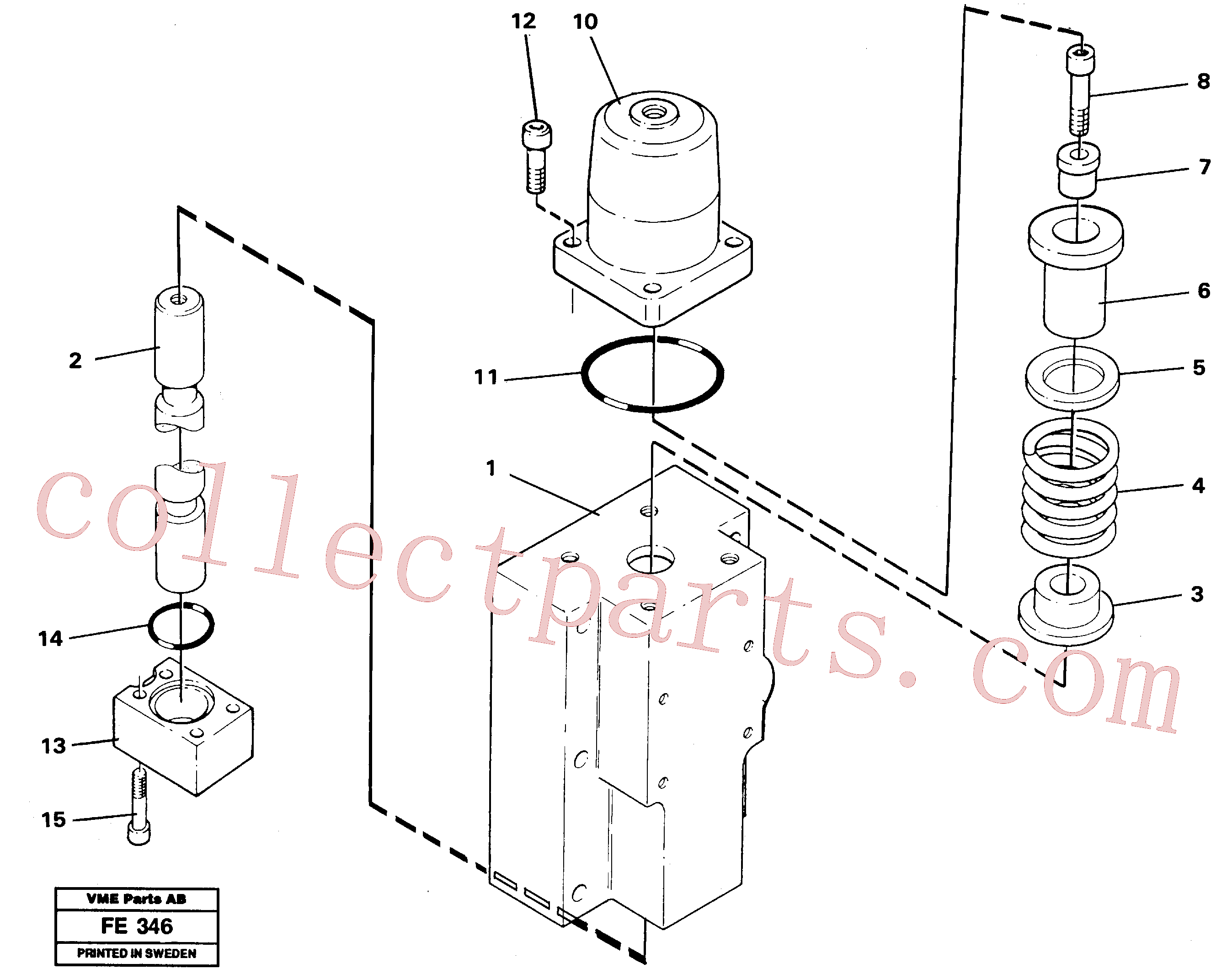 VOE925063 for Volvo Four-way valve, rotating equipment(FE346 assembly)