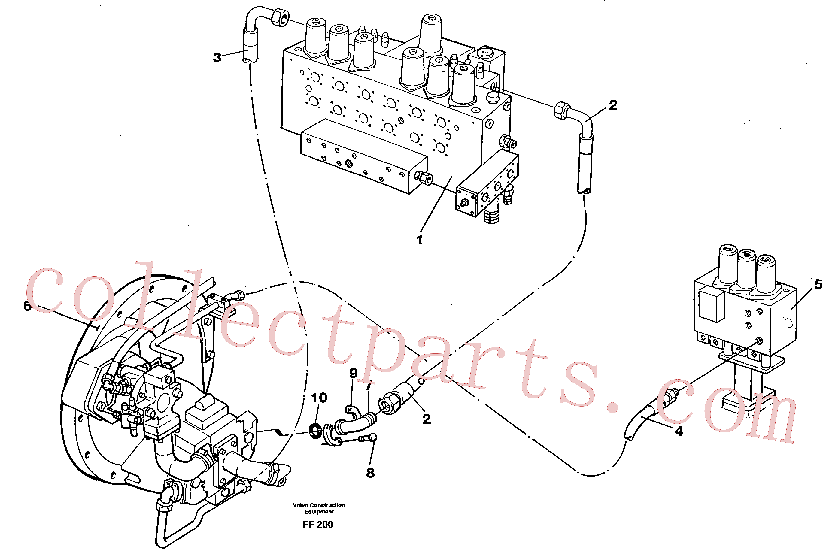 VOE13970949 for Volvo Hydraulic system, feed line(FF200 assembly)