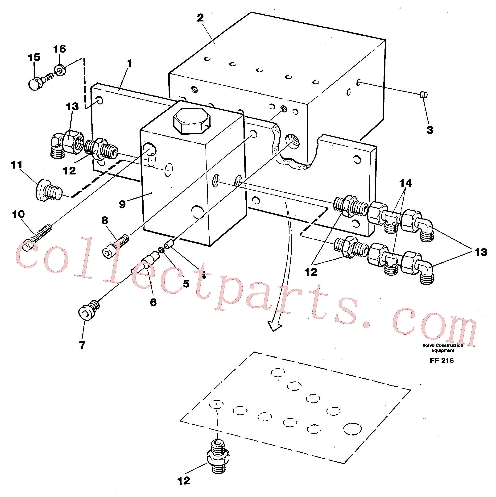 VOE14261190 for Volvo Travel valve bloc(FF216 assembly)