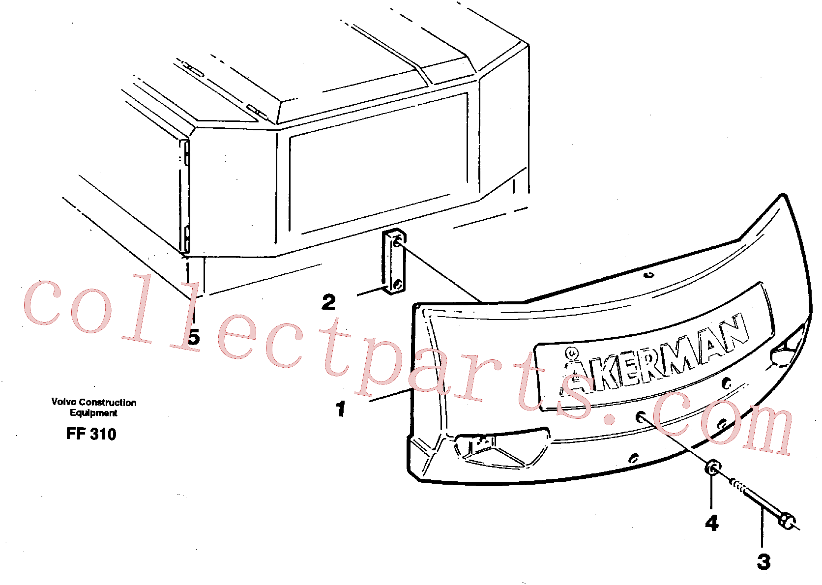 VOE13974302 for Volvo Counterweights(FF310 assembly)