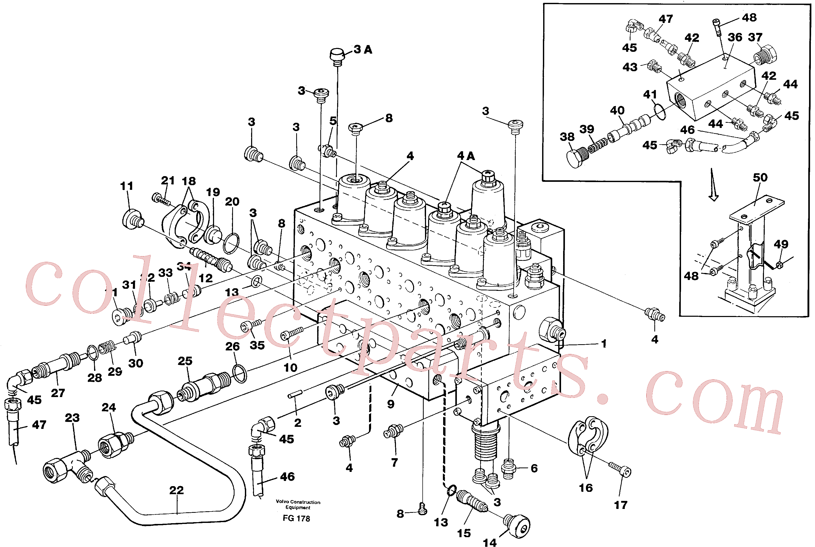 VOE14211065 for Volvo Main valve assembly, tubes connections, assembly bloc(FG178 assembly)