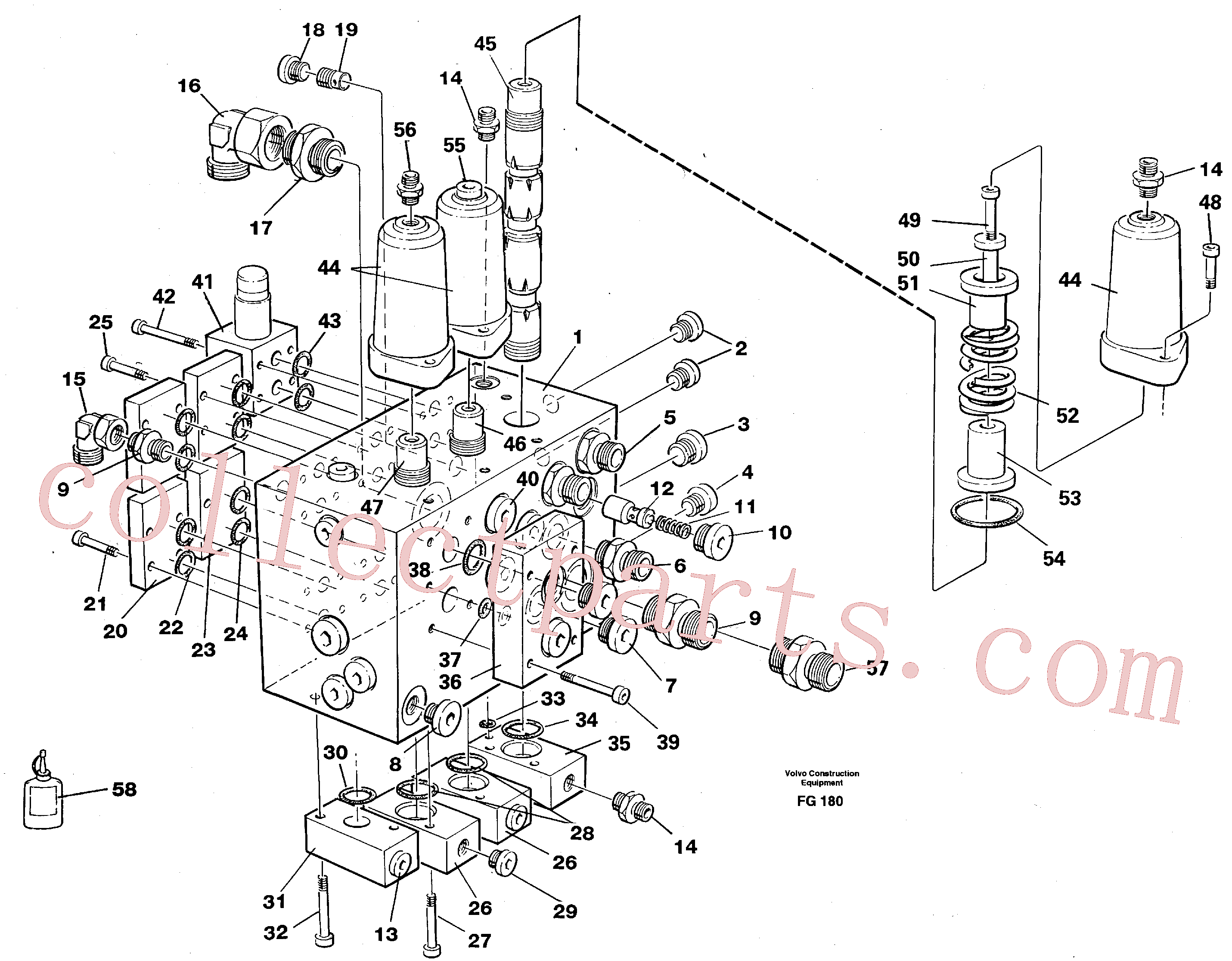 VOE13960167 for Volvo Slew valve assembly(FG180 assembly)