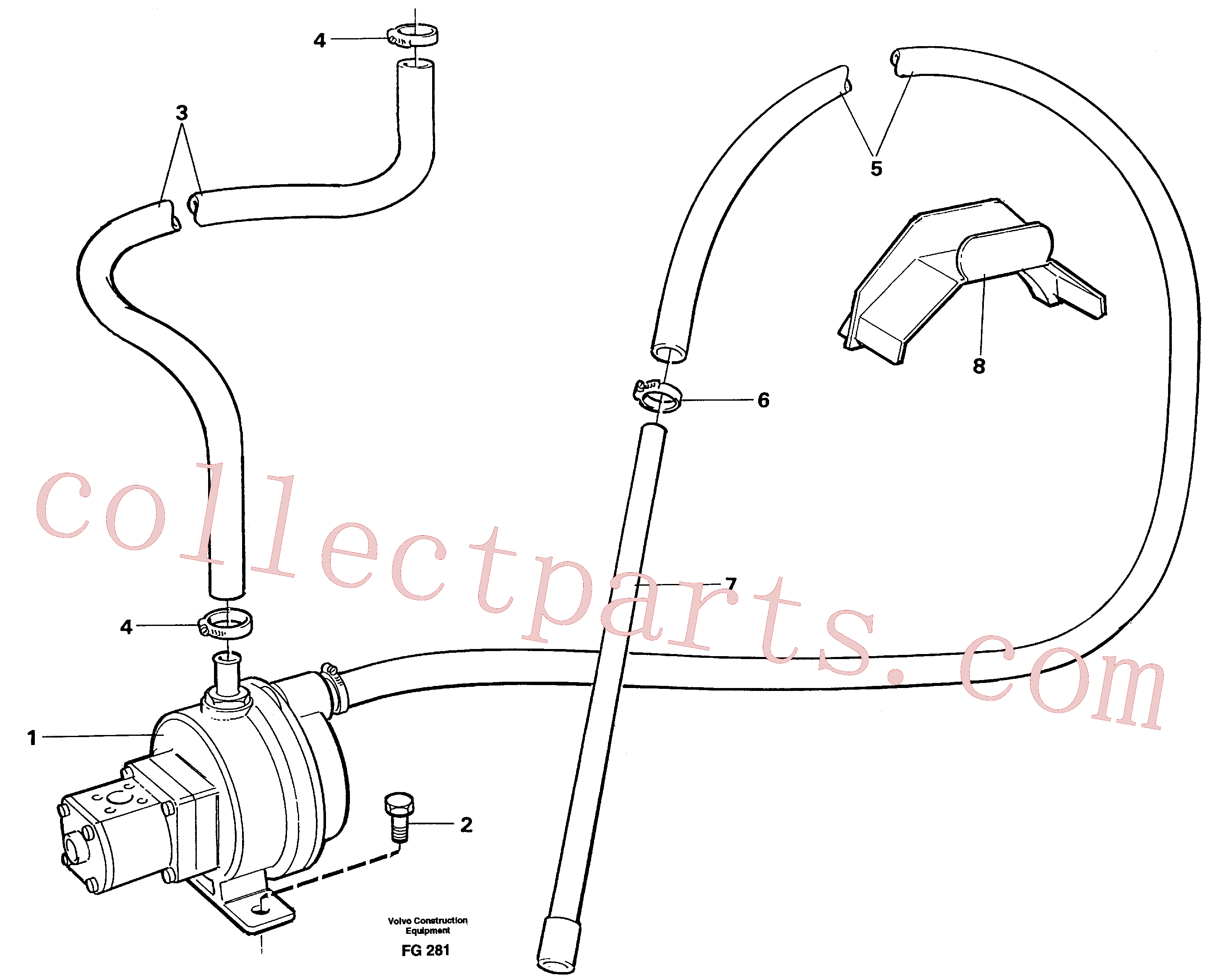 VOE4850693 for Volvo Fuelfilling pump with hoses(FG281 assembly)